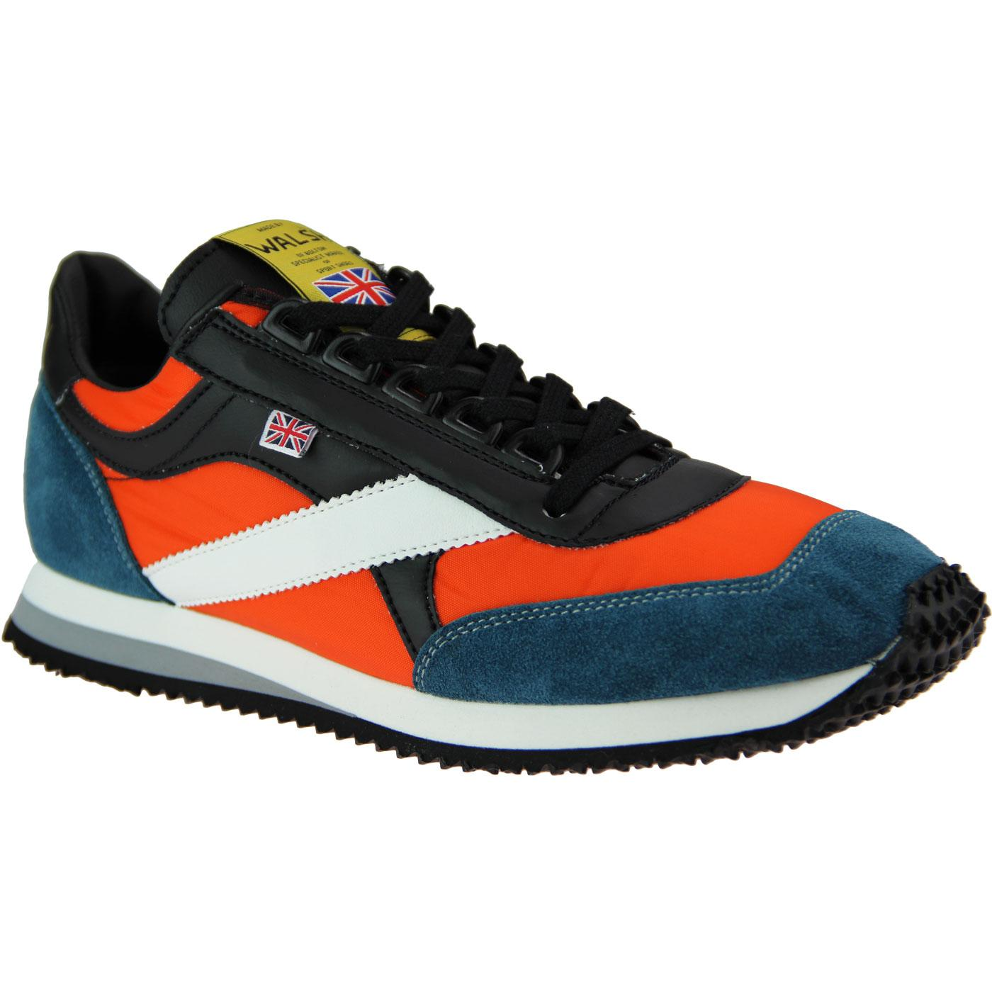 Voyager WALSH Made in England Trainers ORANGE/TEAL