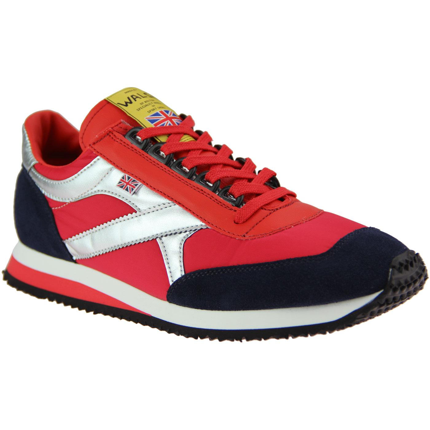 Voyager WALSH Made in England Trainers (Red/Navy)