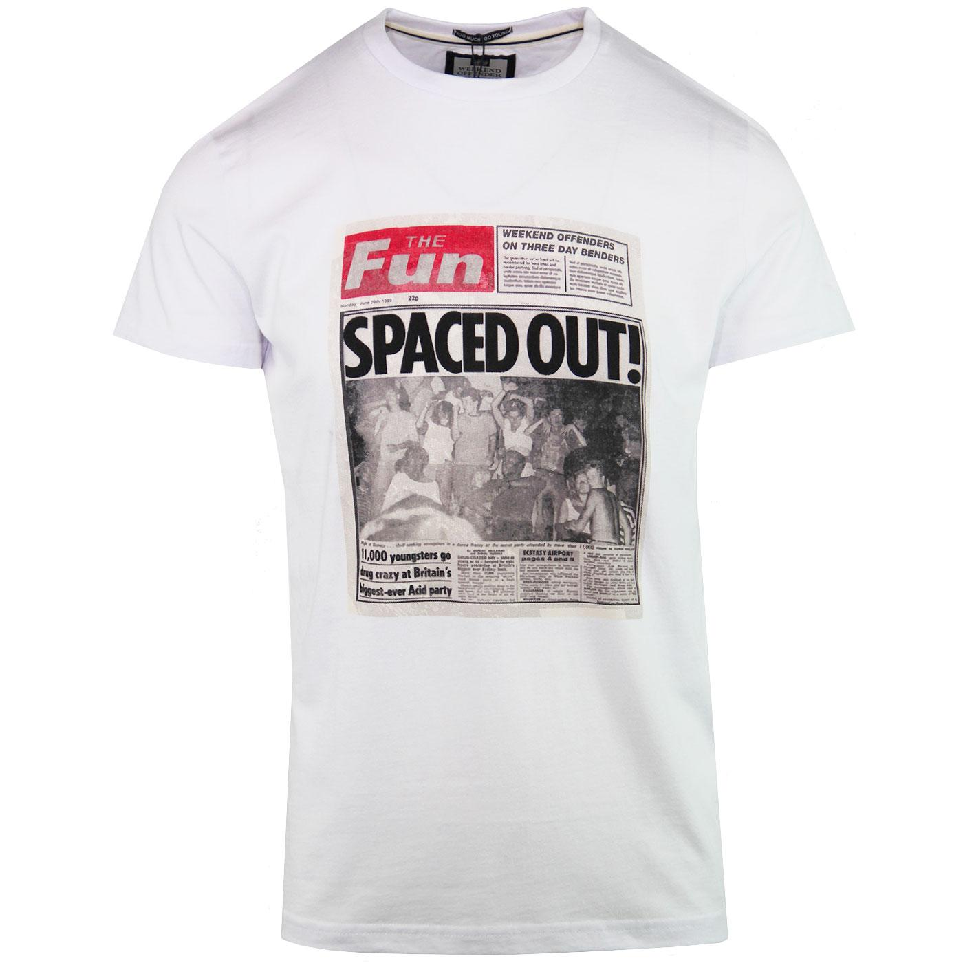 Spaced Out WEEKEND OFFENDER Retro 90s Acid Tee