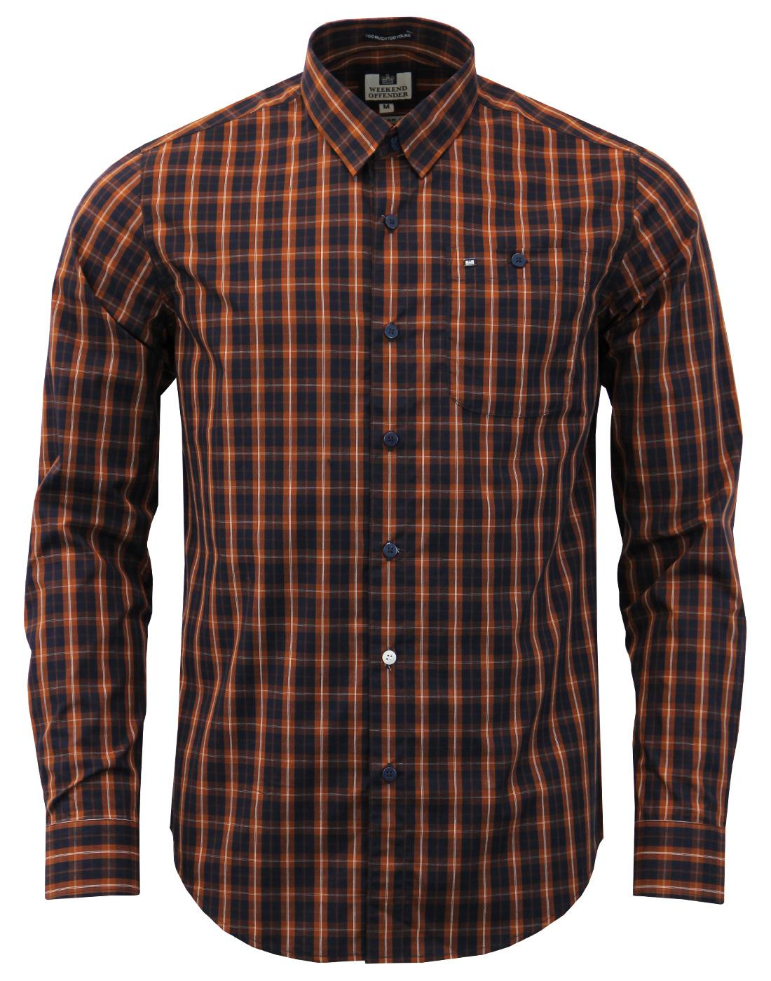 Patton WEEKEND OFFENDER Button Under Check Shirt