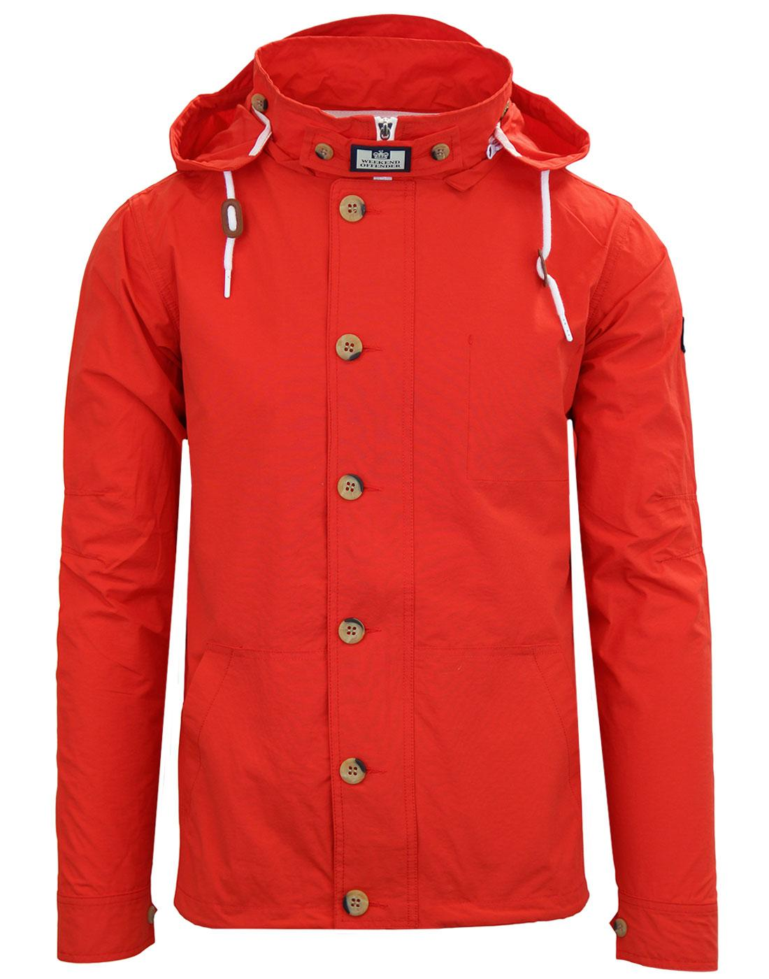 Burgess WEEKEND OFFENDER Retro Hooded Jacket MARS