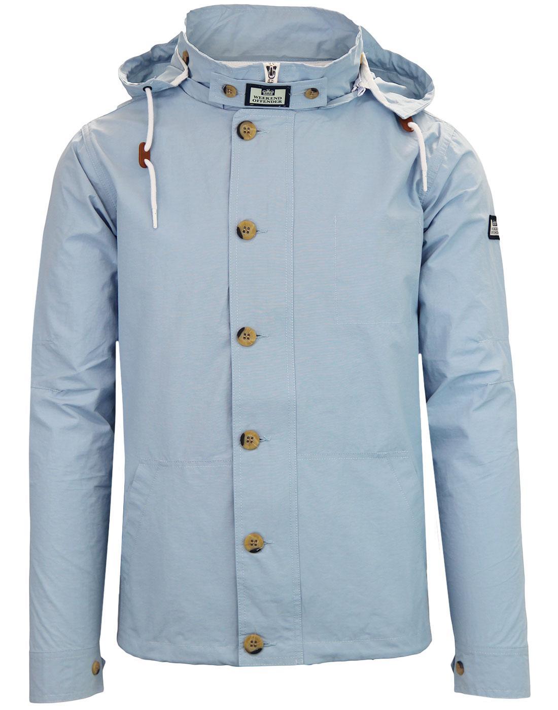 Burgess WEEKEND OFFENDER Retro Hooded Jacket SKY