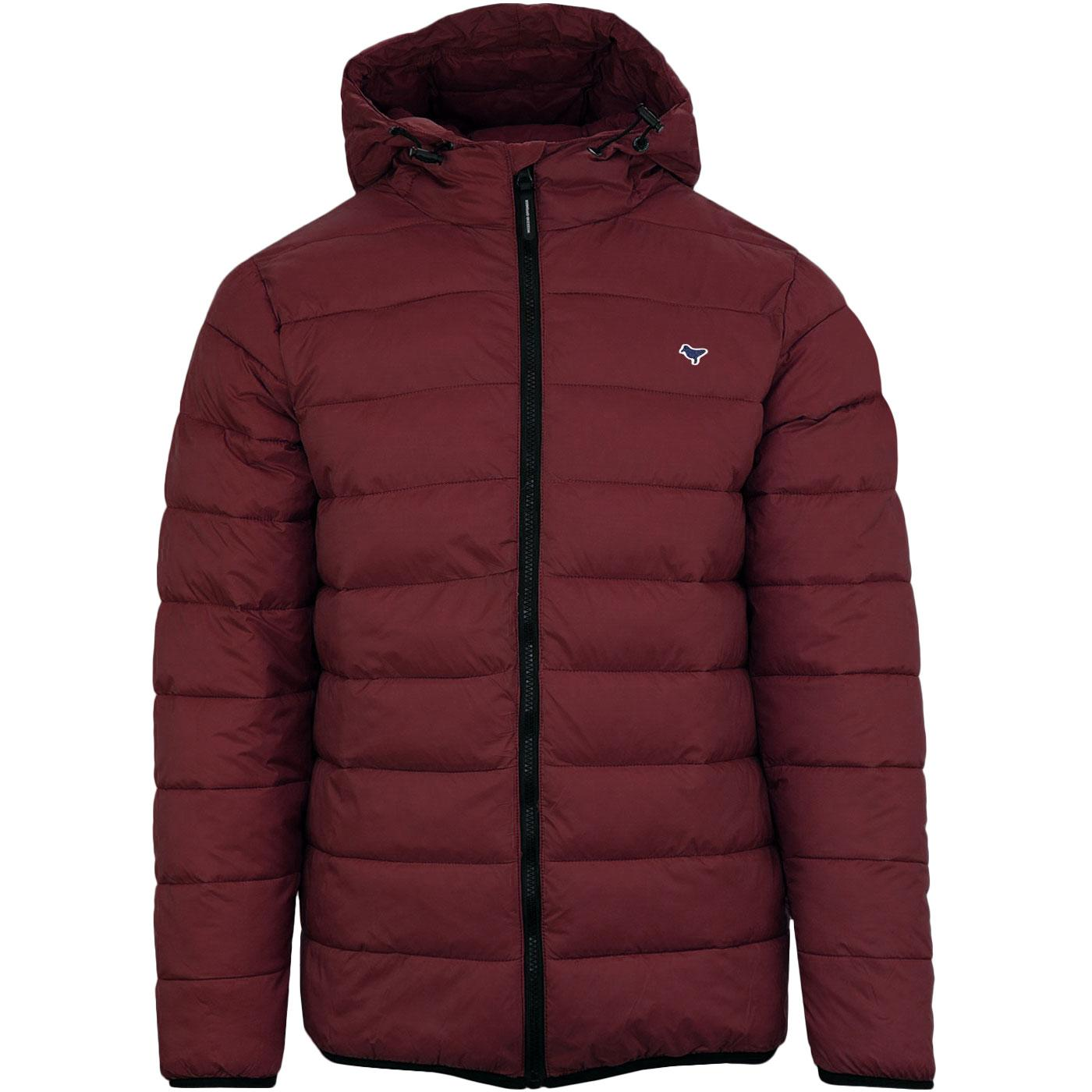 Hudson WEEKEND OFFENDER Quilted Jacket LOGANBERRY