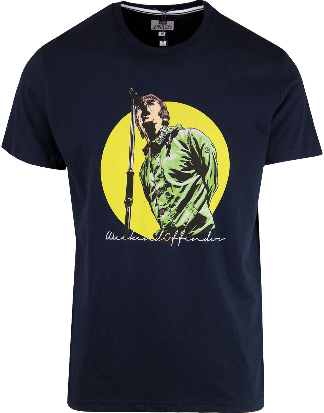 Liam WEEKEND OFFENDER Liam Gallagher 90s Tee NAVY