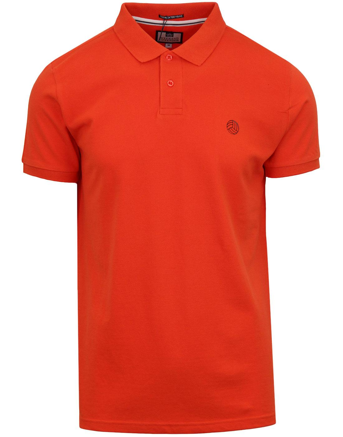 Oates WEEKEND OFFENDER AMF Football Polo Top MARS
