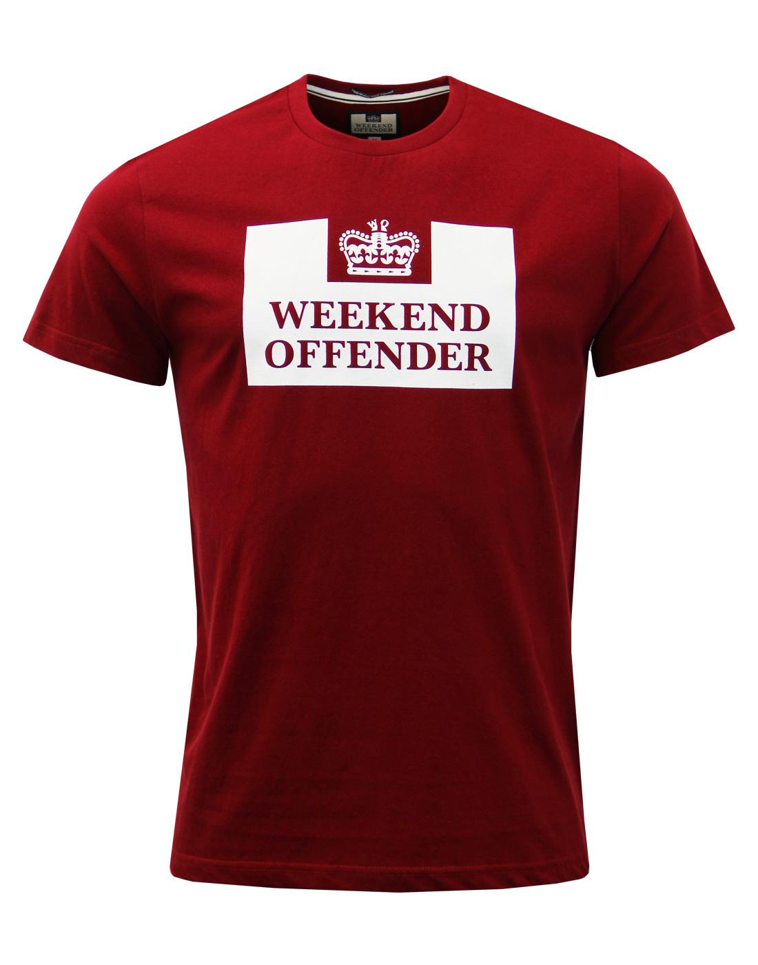 WEEKEND OFFENDER Retro Mod Casuals Prison Tee (GR)
