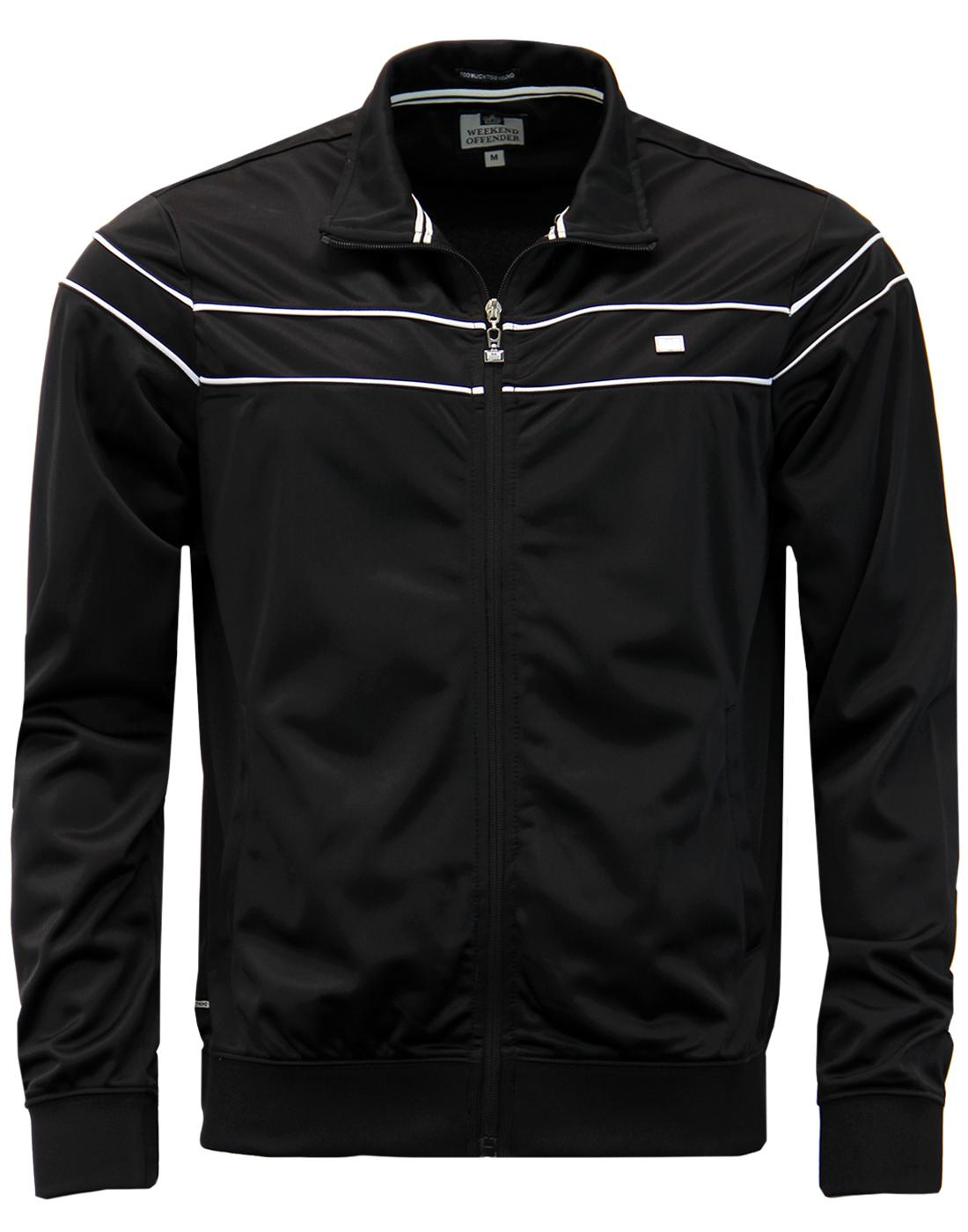 Renot WEEKEND OFFENDER Mod Casuals Black Track Top