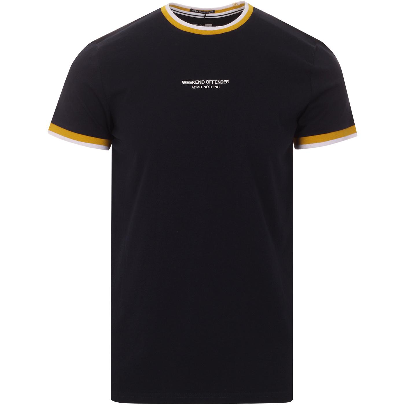 Fonesca WEEKEND OFFENDER Mens Retro Ringer Tee