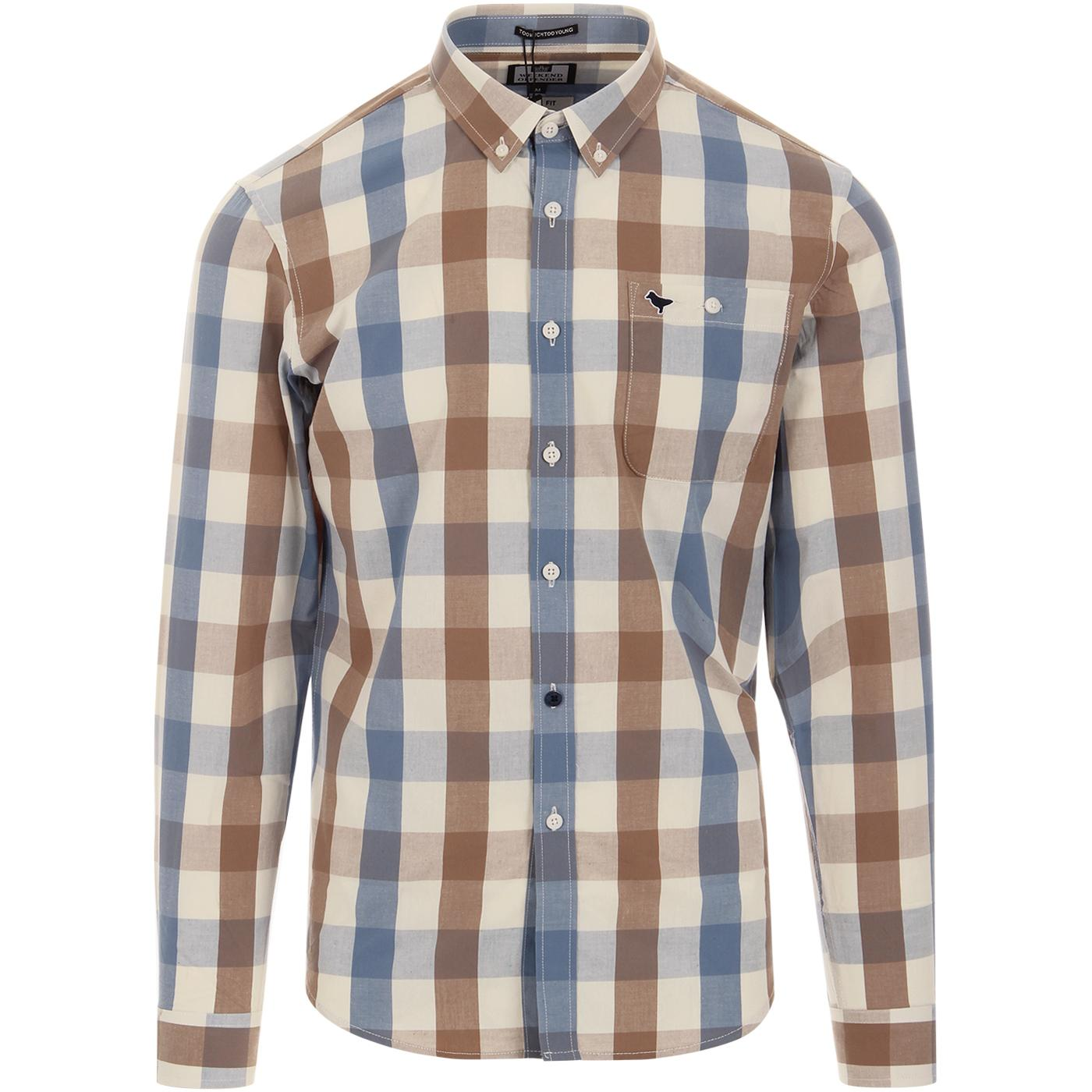 Geveria WEEKEND OFFENDER Retro Mod Check Shirt T