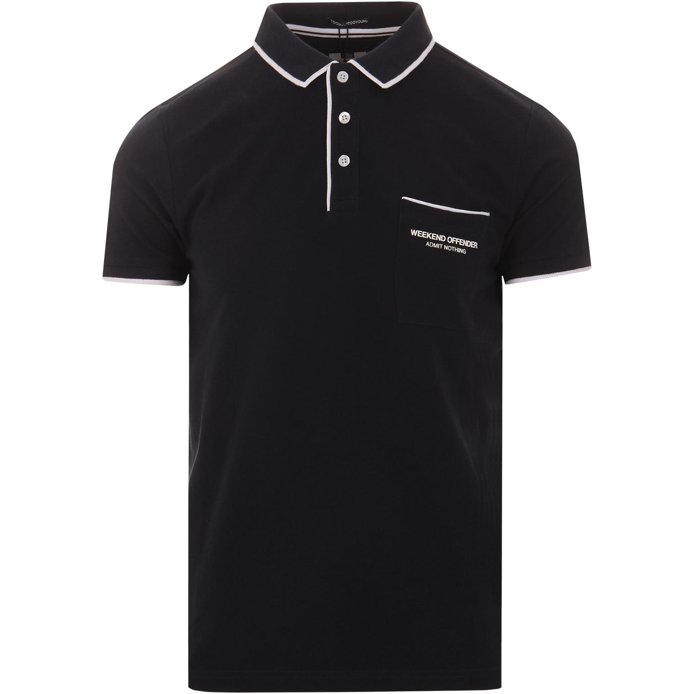Oaxaca WEEKEND OFFENDER Tipped Mod Polo Shirt N