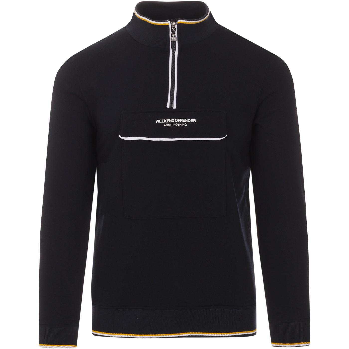 Zocalo WEEKEND OFFENDER Half Zip Sweatshirt (Navy)