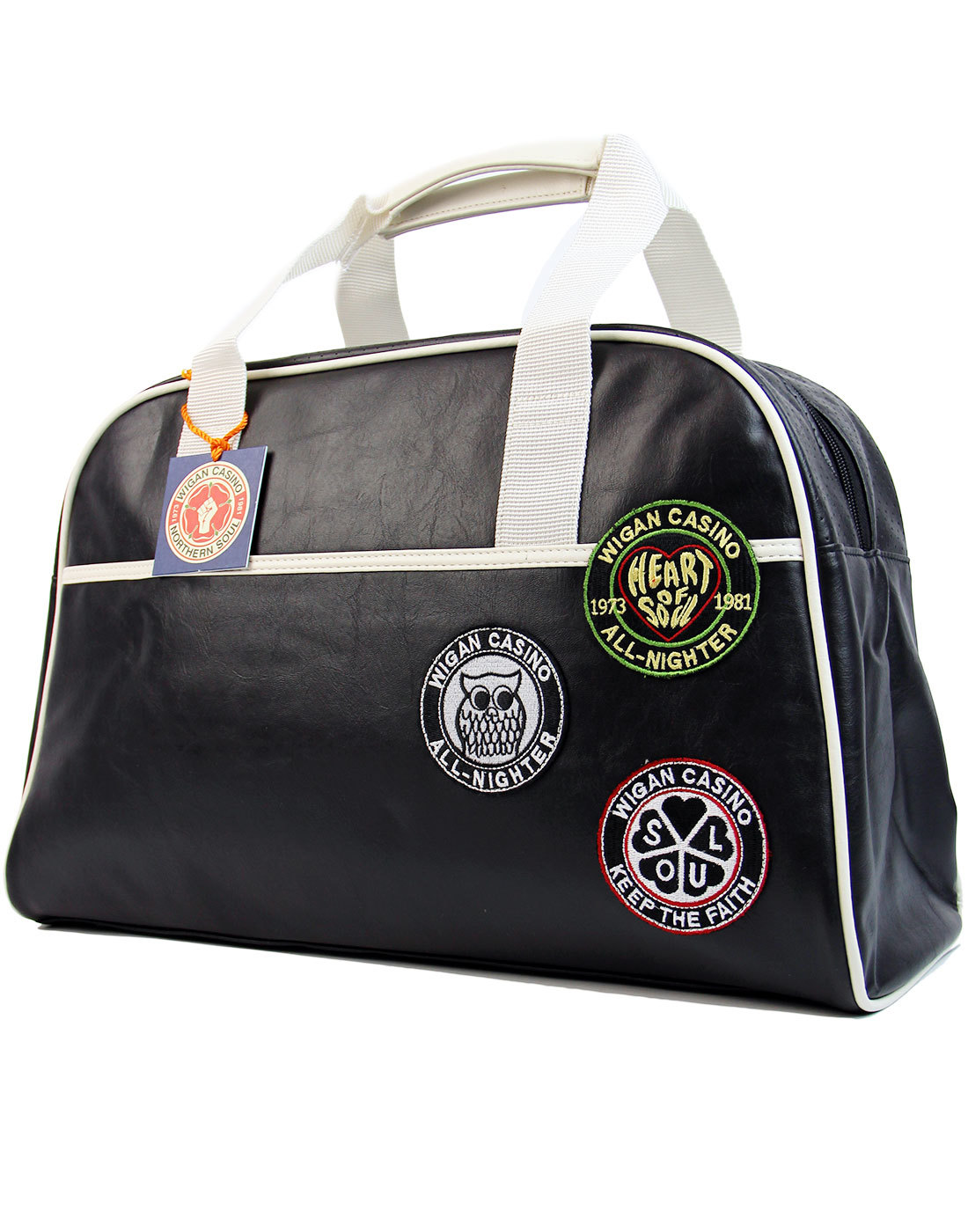 WIGAN CASINO Northern Soul Retro Bowling Bag BLACK