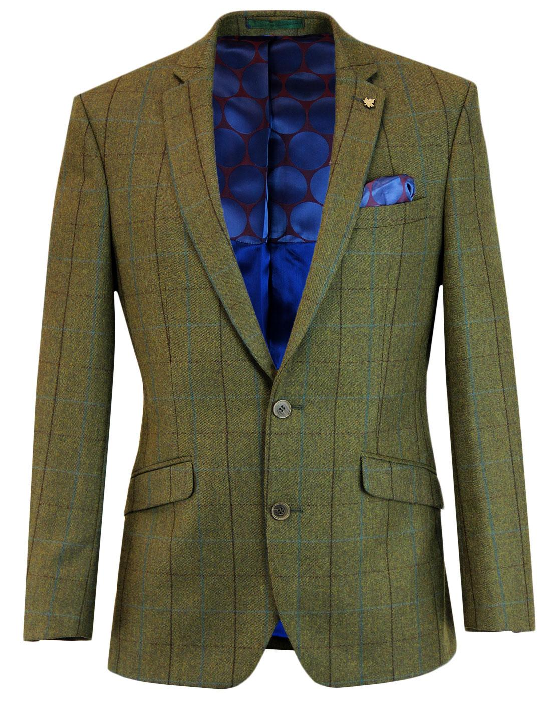 Mod Windowpane Country Check 2 Button Suit Jacket