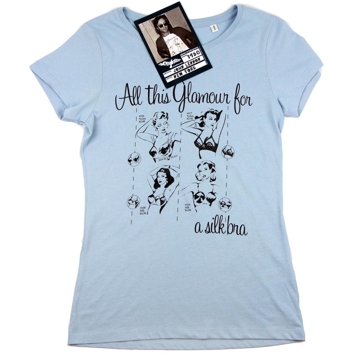 WORN FREE John Lennon Glamour Retro Indie T-Shirt
