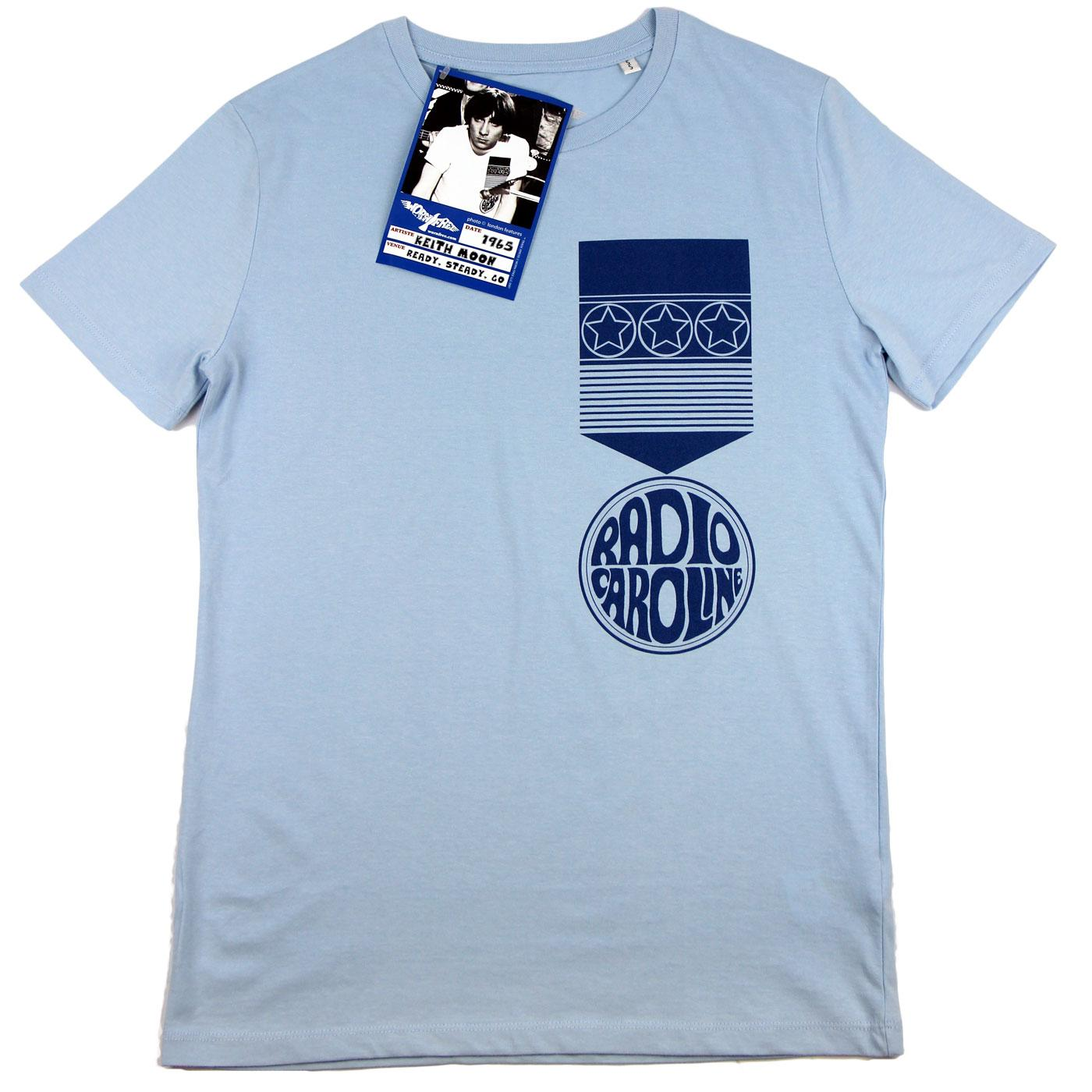 WORN FREE Keith Moon Radio Caroline Mod T-shirt