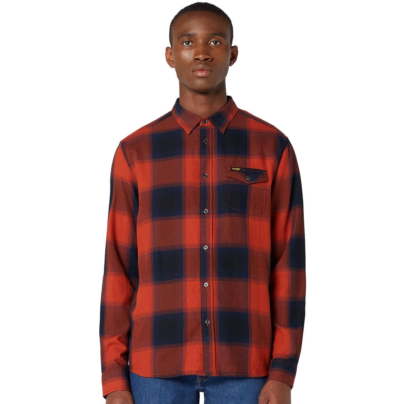 WRANGLER Men's 1 Pocket Retro Western Check Shirt