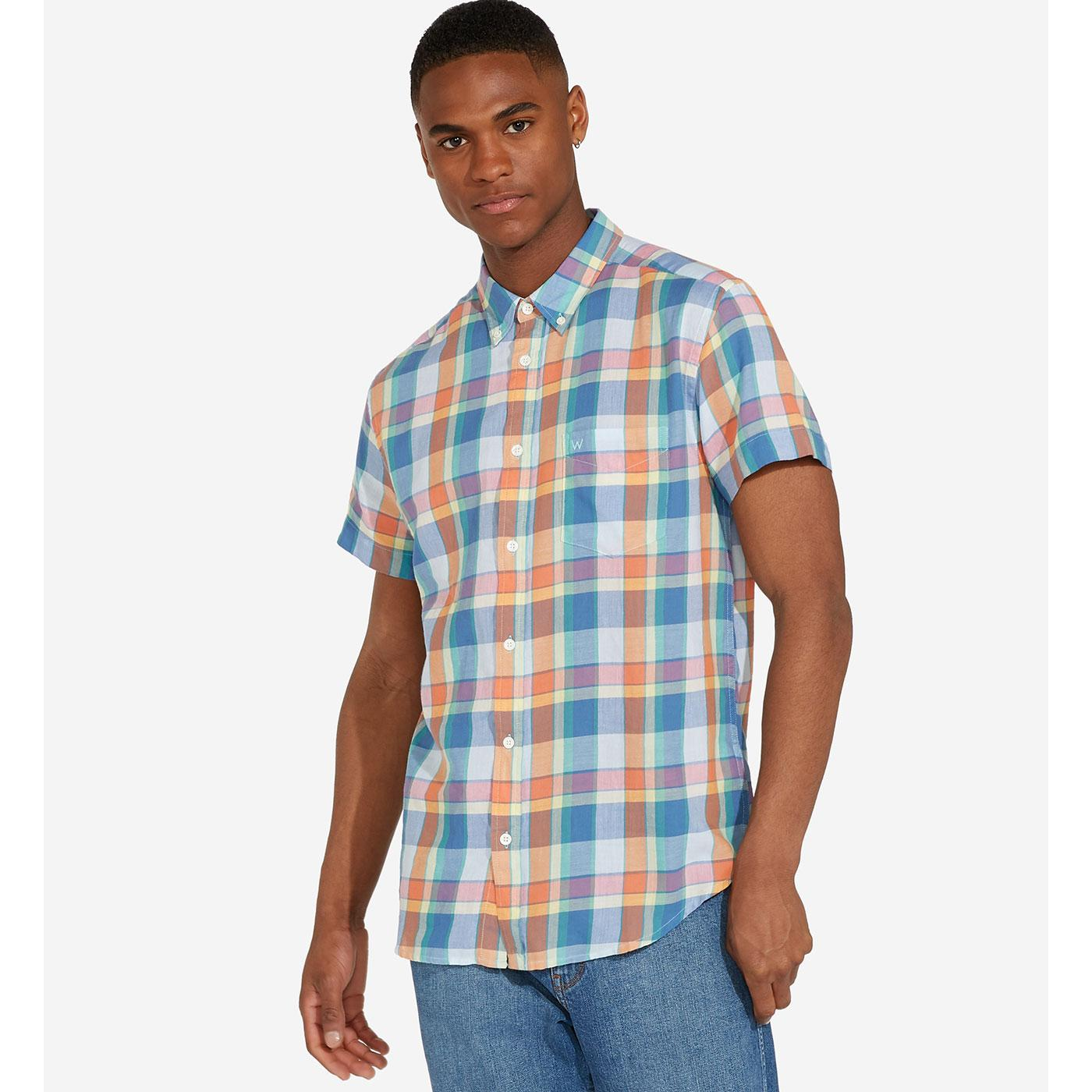 WRANGLER Men's Retro S/S 1 Pocket Check Shirt