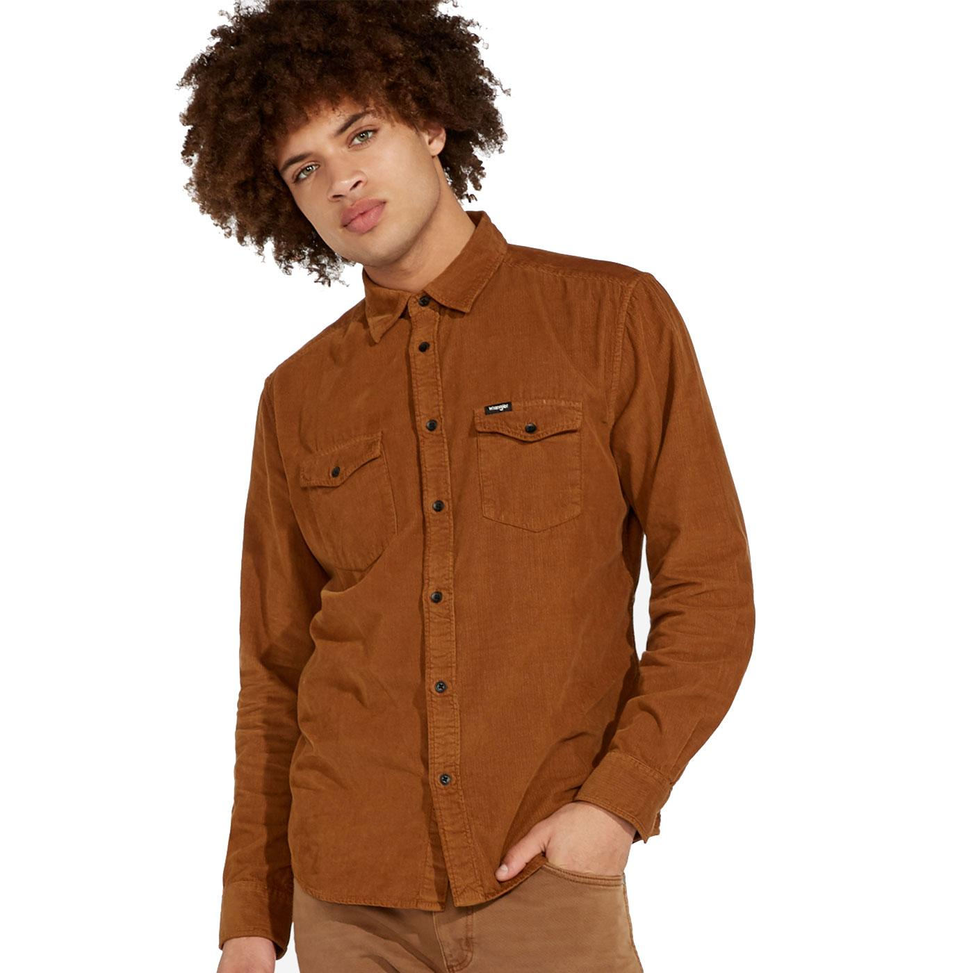WRANGLER 70's Retro 2 Pocket Western Cord Shirt