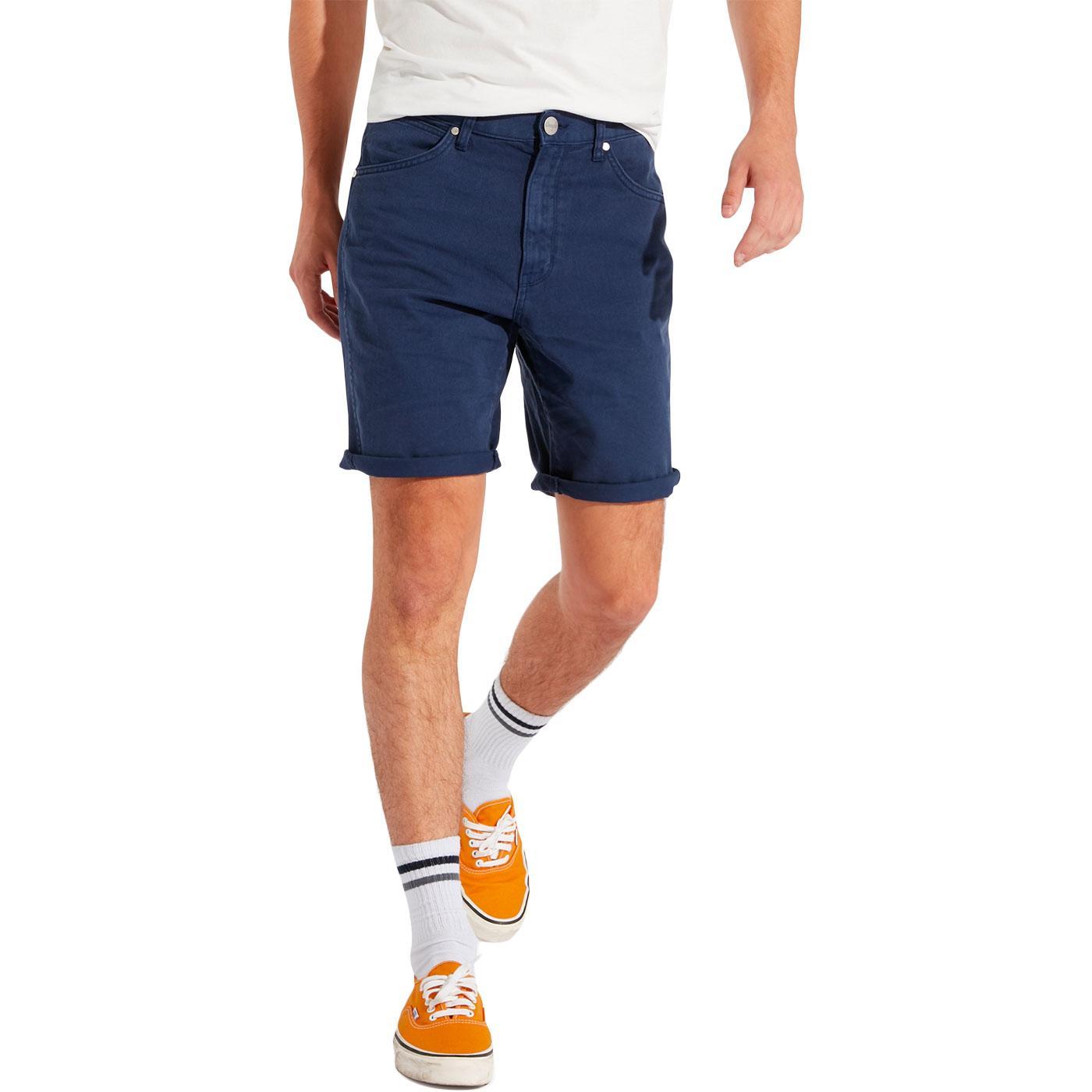 WRANGLER Men's Retro 6 Pocket Chino Shorts INDIGO