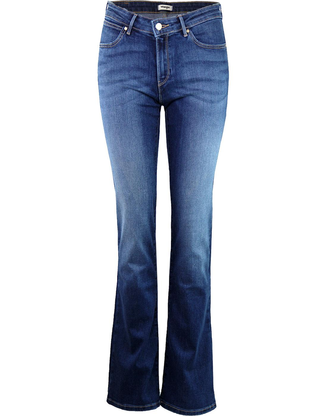 WRANGLER Women's Authentic Blue 70s Bootcut Jeans