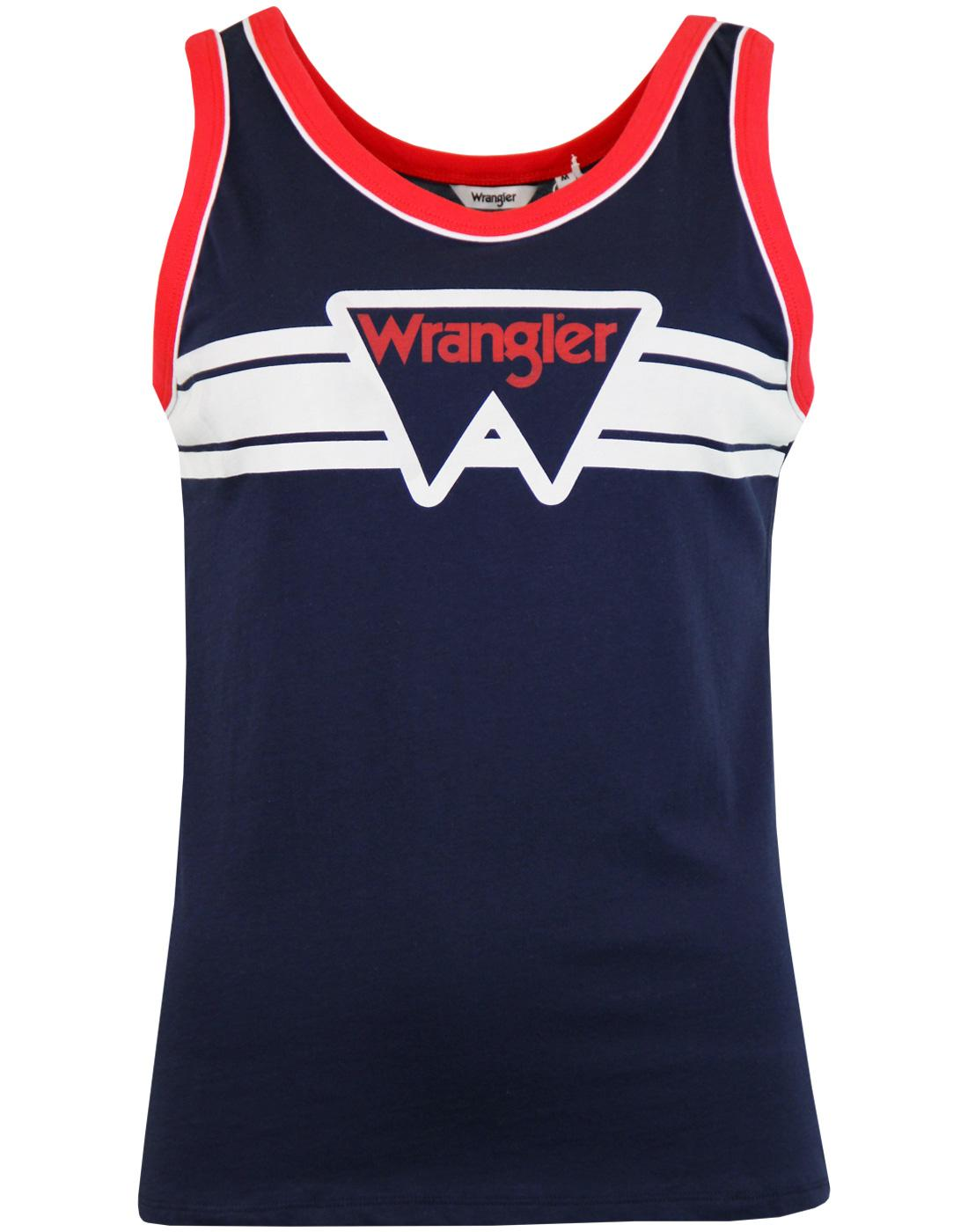 WRANGLER Women's Retro 1970s Box Logo Tank Top