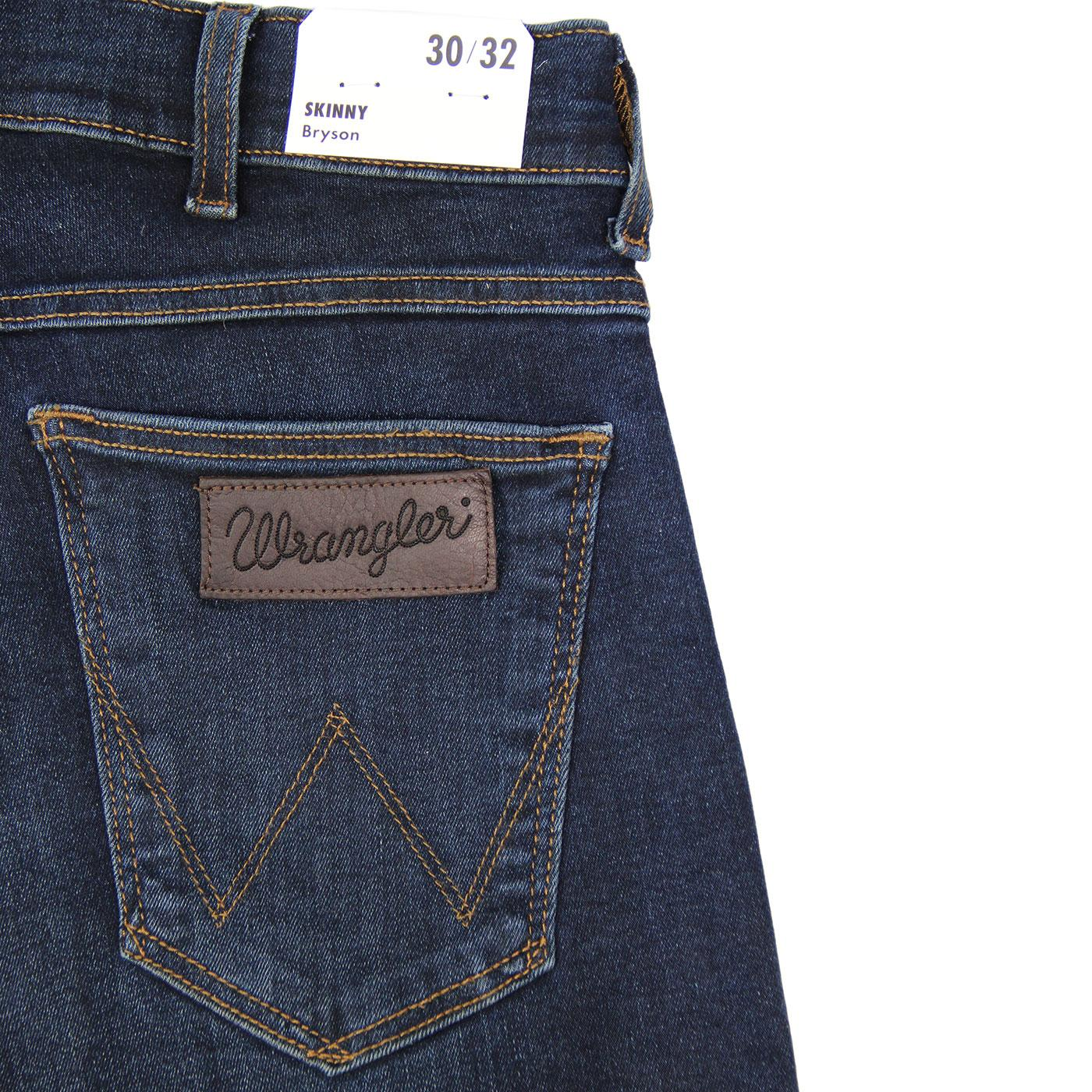 8d6e55f3 WRANGLER Bryson Retro Mod Skinny Denim Jeans Dust Blue