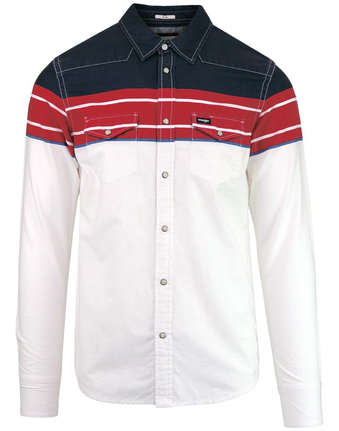 WRANGLER Retro Indie Block Colour Western Shirt