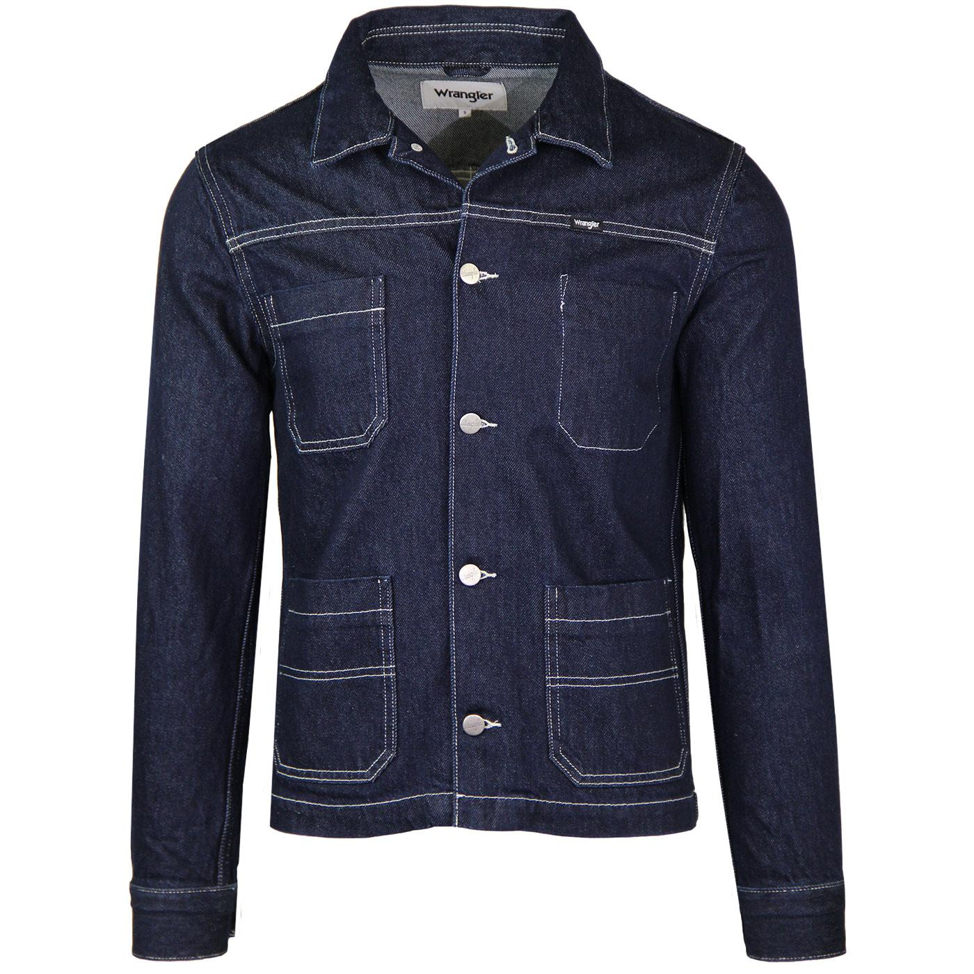WRANGLER Retro Mod Denim Carpenter Jacket RAW EDGE