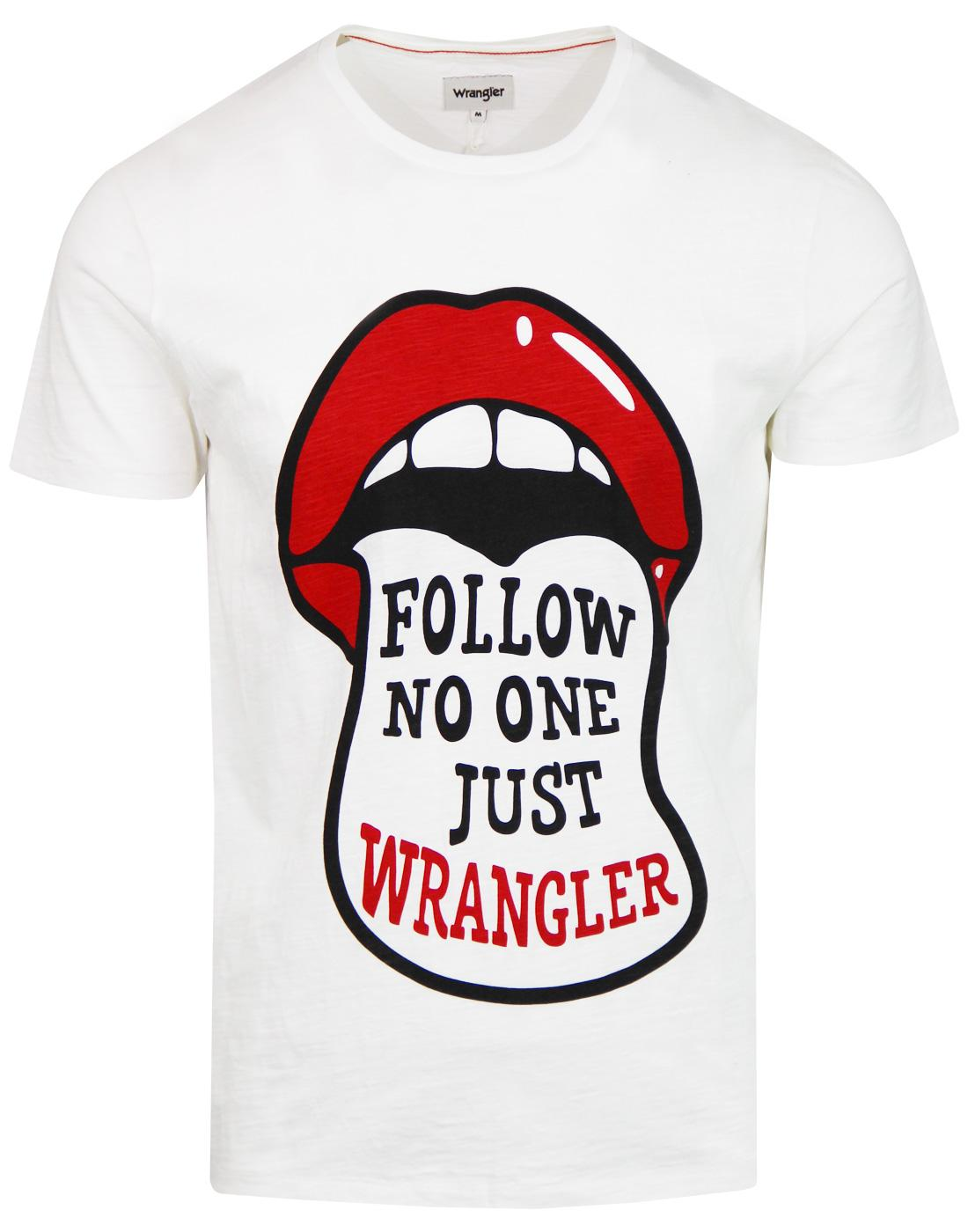 Follow No One Just WRANGLER Retro Festival T-shirt
