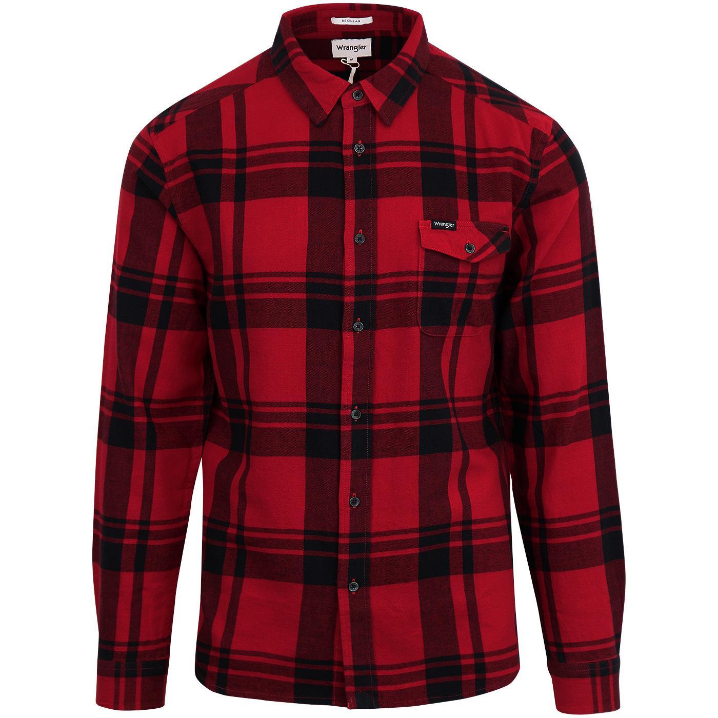 WRANGLER Retro Mod 1 Pocket Lumberjack Check Shirt
