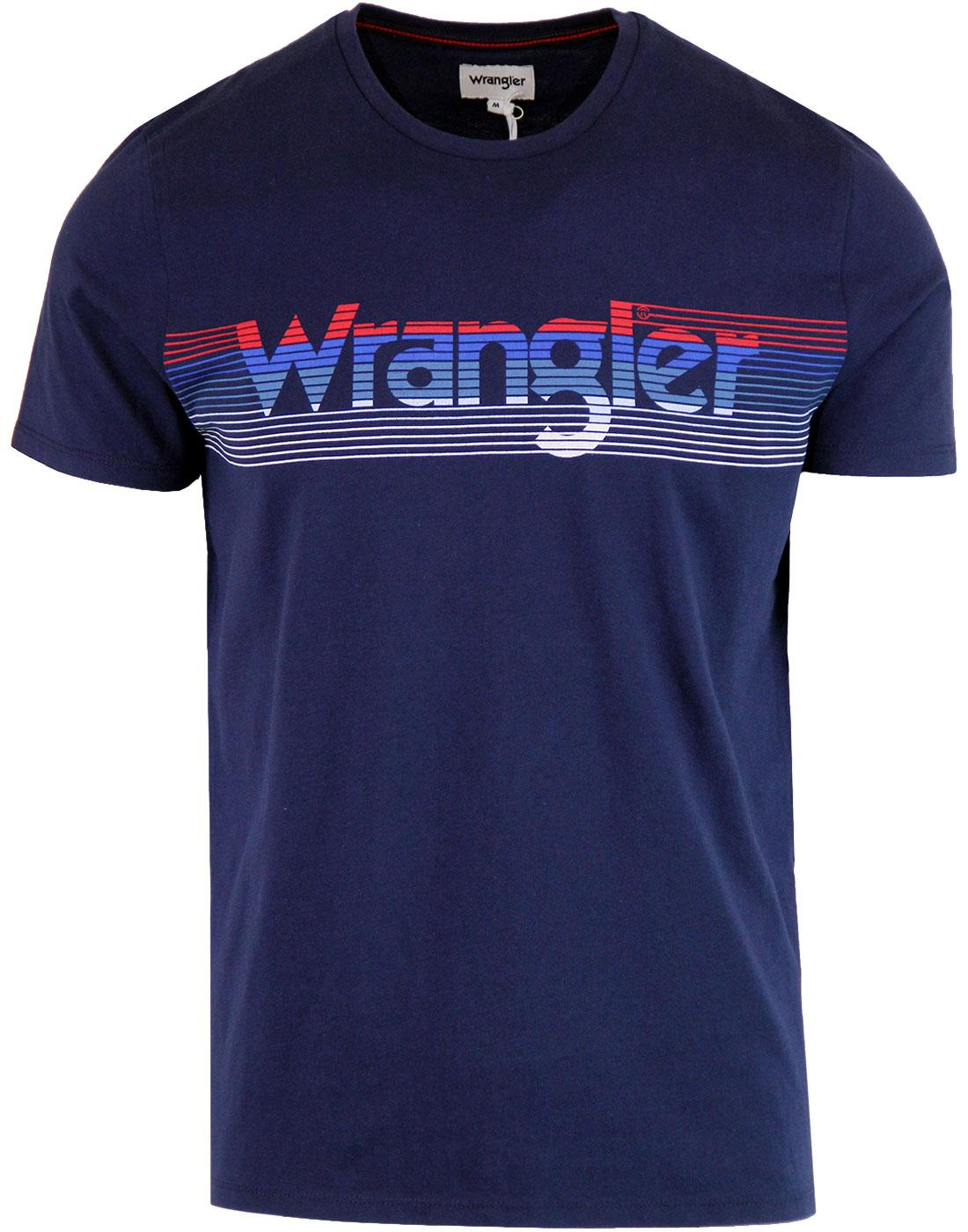 WRANGLER Retro Seventies Speed Stripe Logo T-shirt