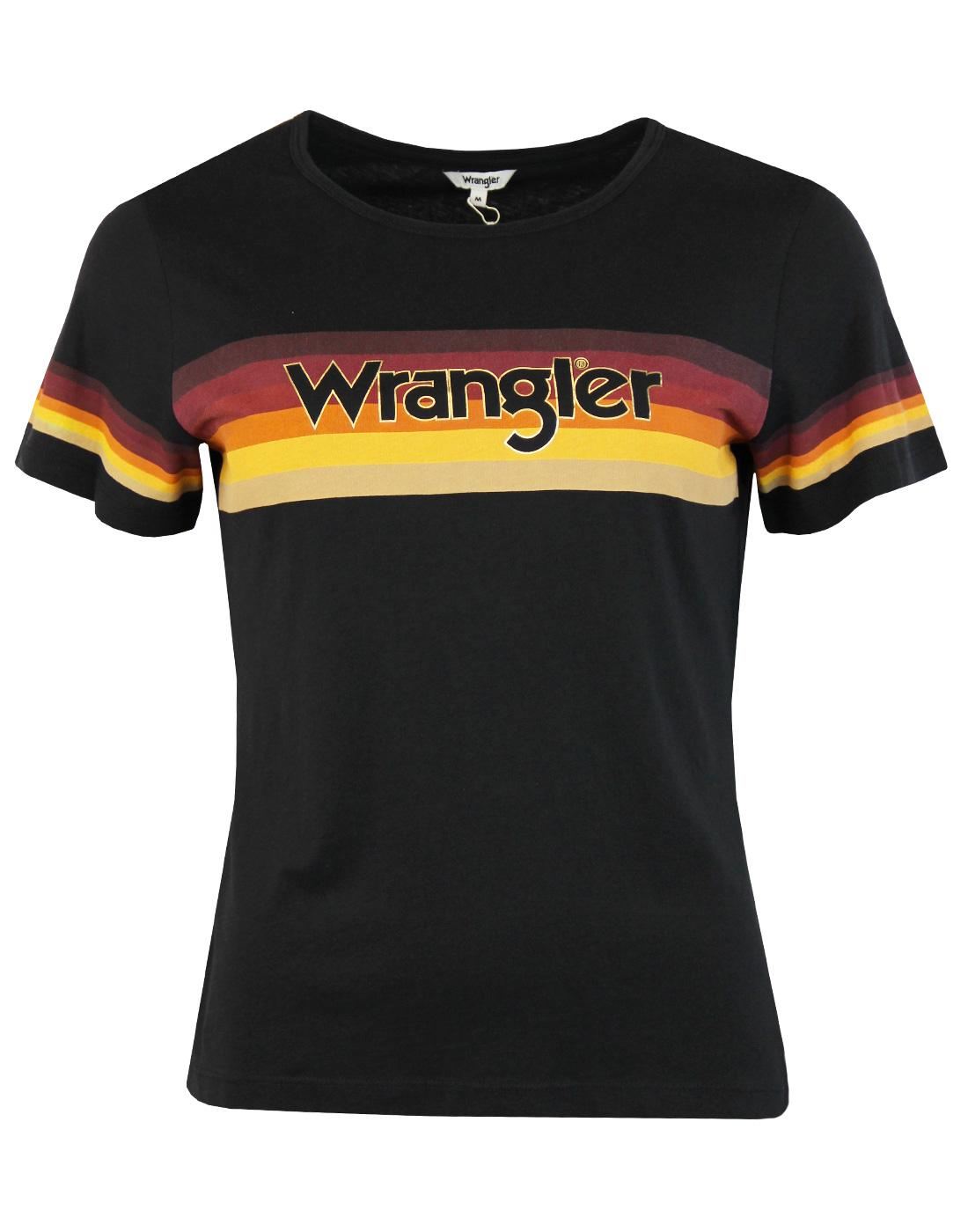 WRANGLER Women's Retro 70s Rainbow Stripe T-shirt