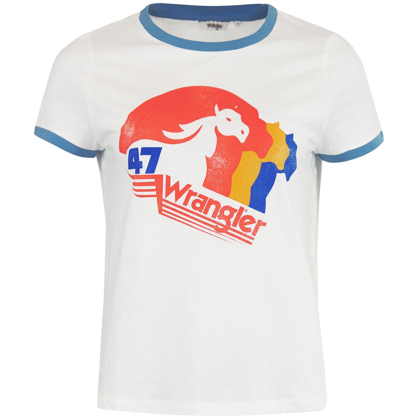WRANGLER Women's Retro Horse Logo Ringer Tee