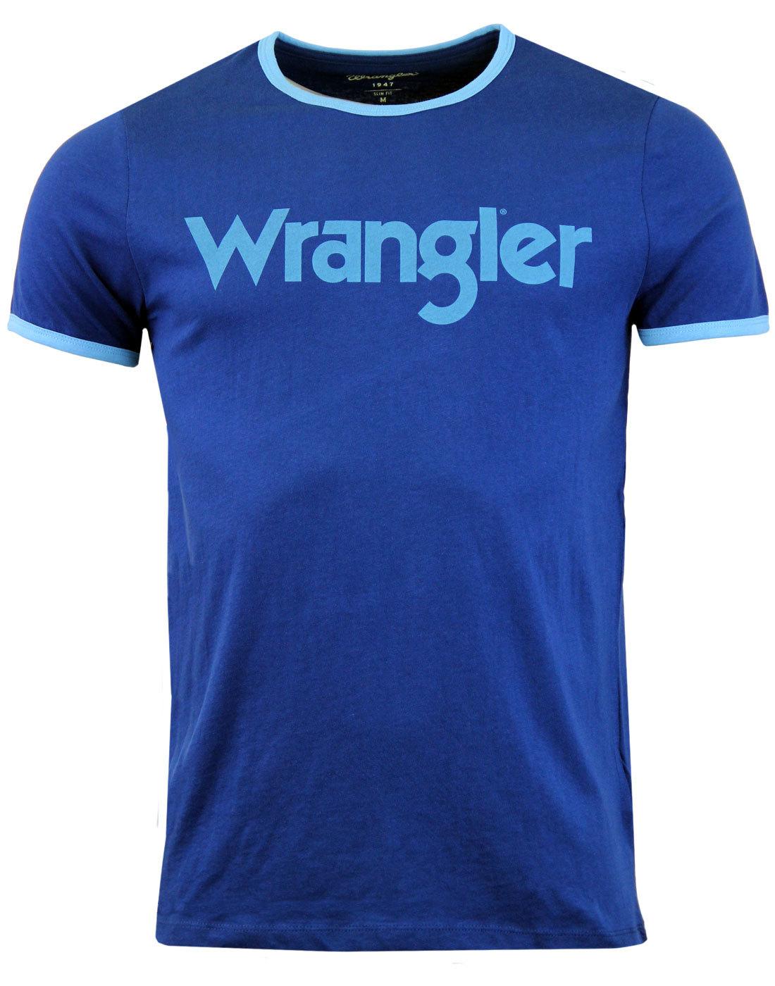 WRANGLER Kabel Retro 70s Crew Ringer Logo Tee (LB)