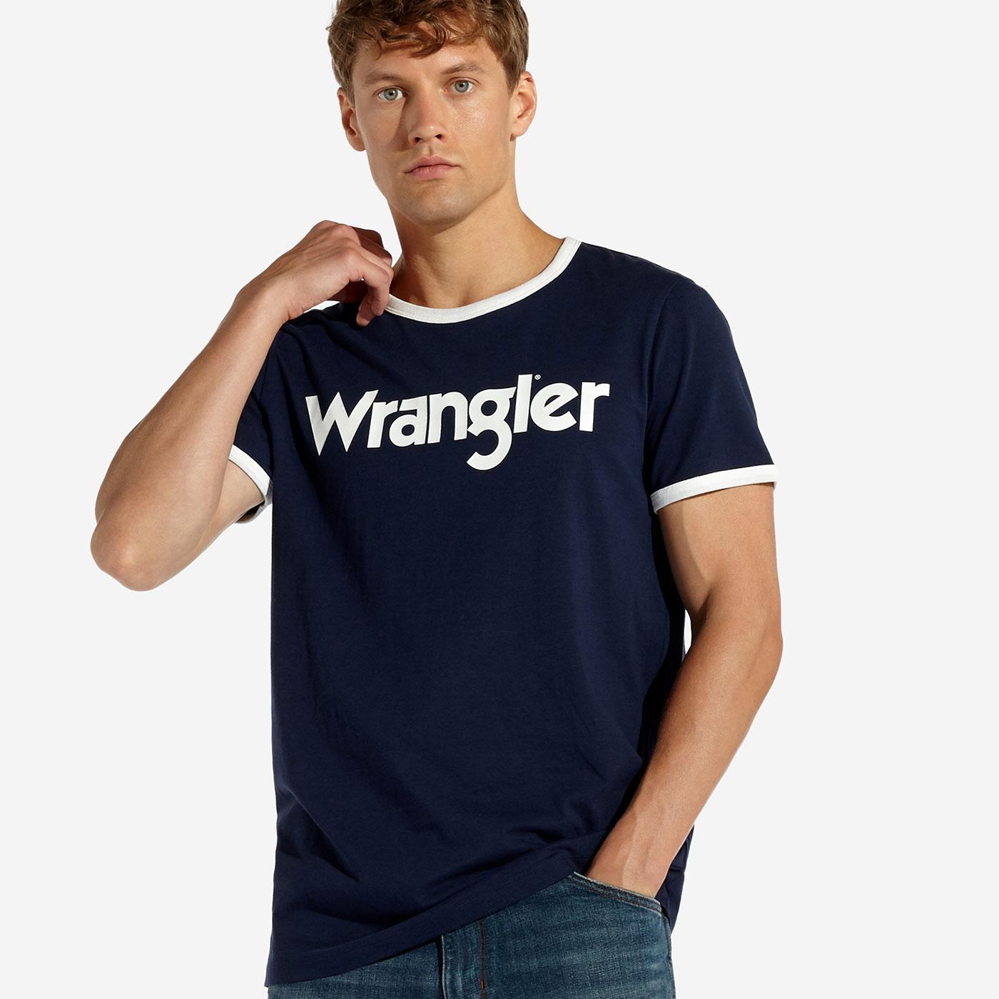 Kabel WRANGLER Retro Men's Crew Ringer Logo Tee N