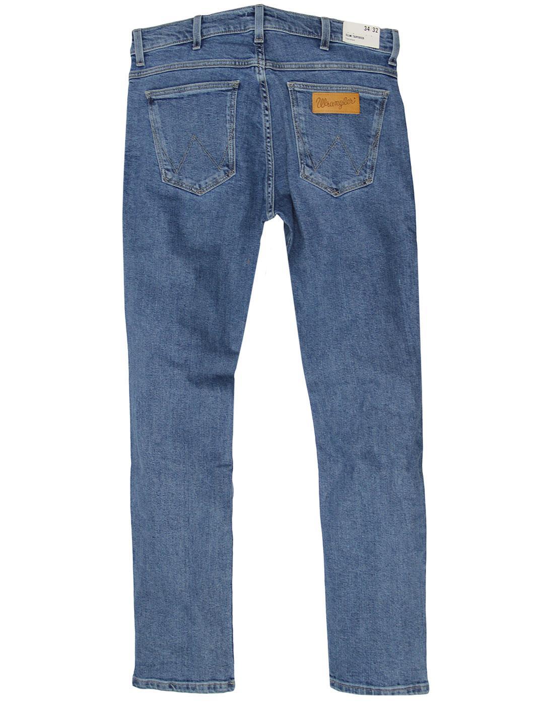 3cfda79c WRANGLER Larston Retro Mod Slim Tapered Midstone Denim Jeans