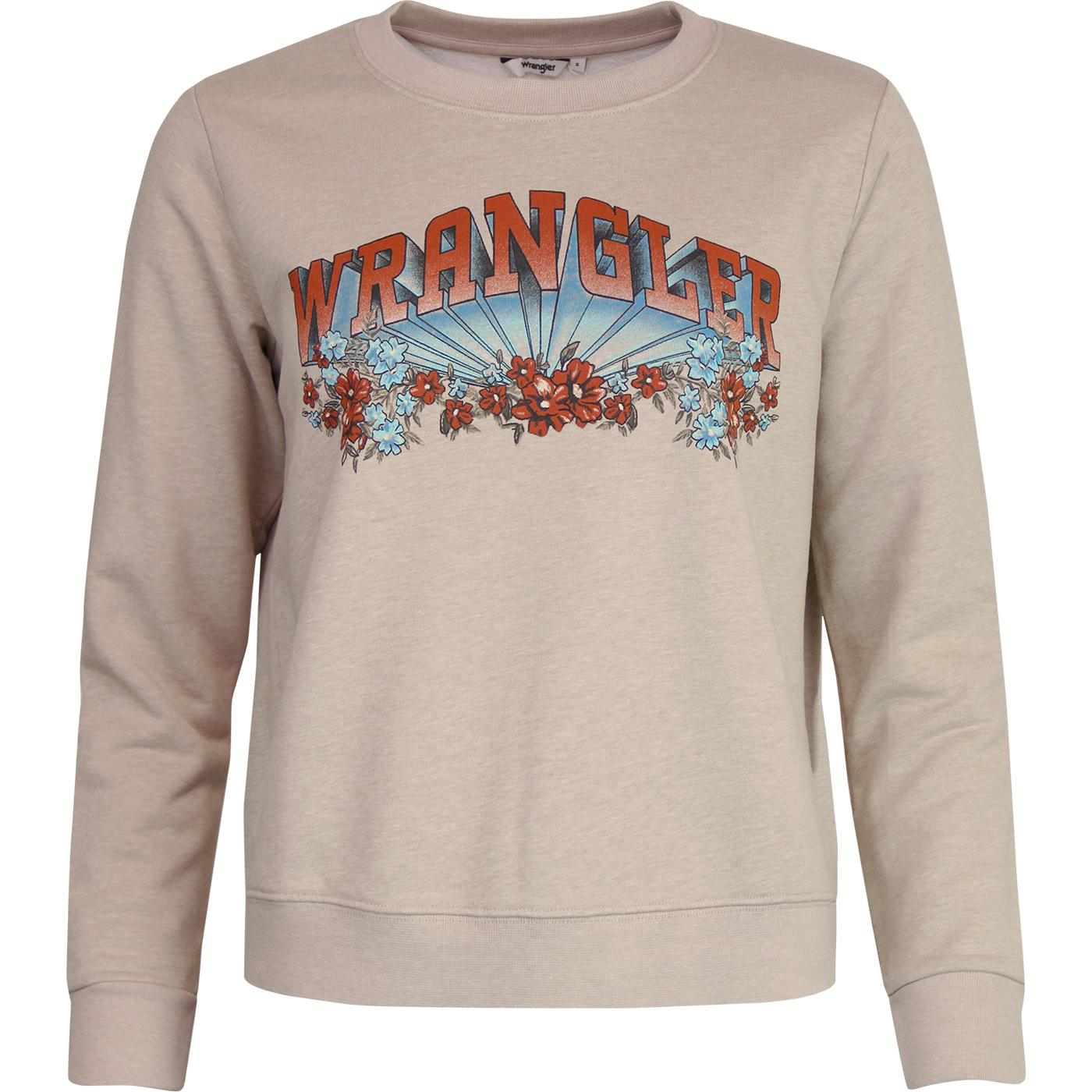WRANGLER Women's Retro 1970s Floral 3D Sweatshirt