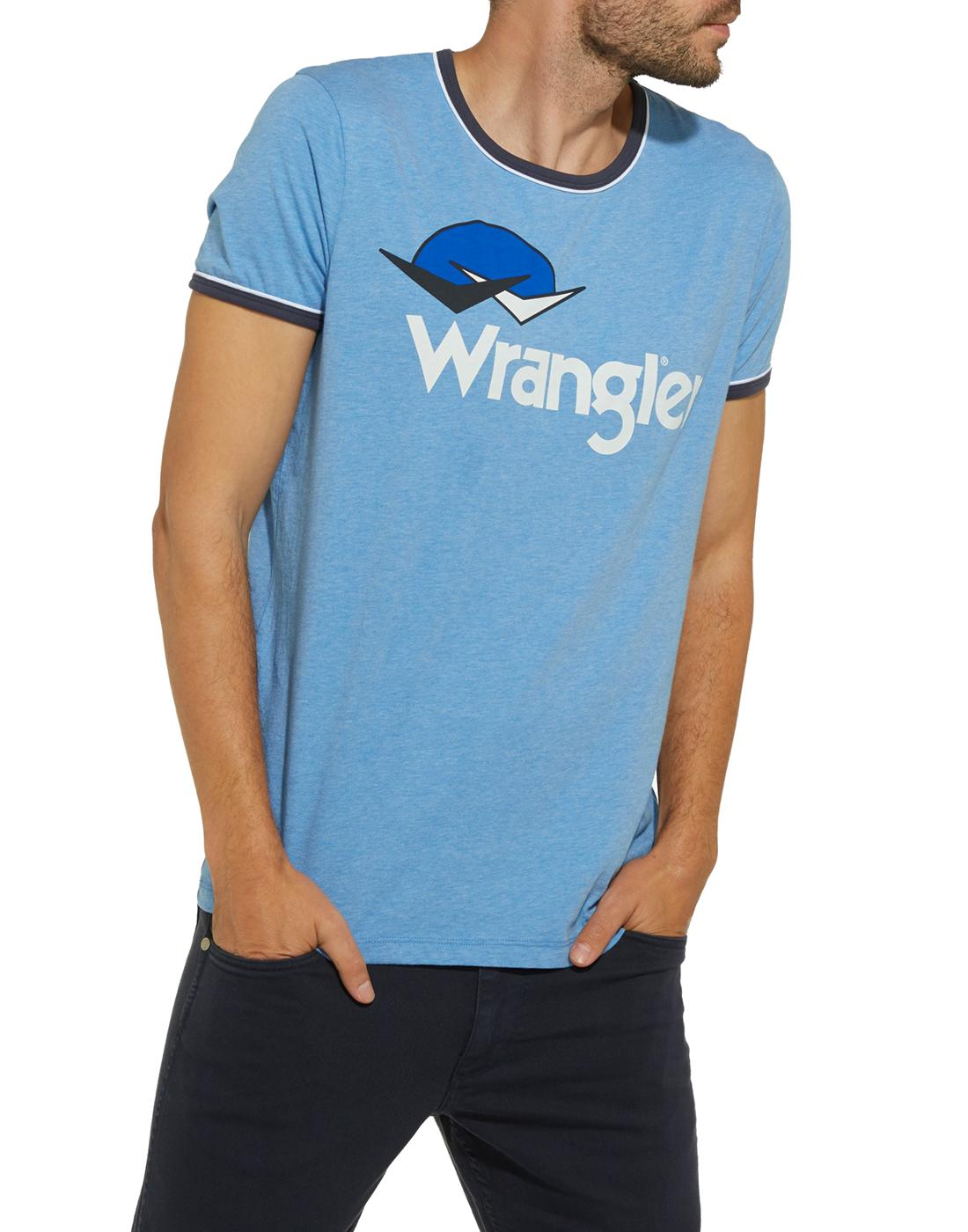 WRANGLER Men's Retro 70s Birds & Sunset Logo Tee