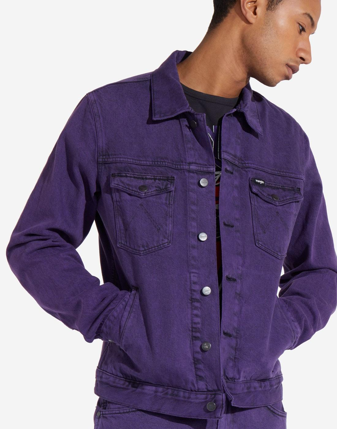 WRANGLER Retro 70s Purple Pop Regular Denim Jacket