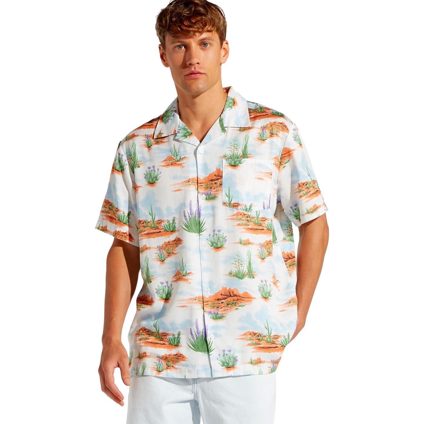 WRANGLER Retro 70s Wild West Print Resort Shirt GO