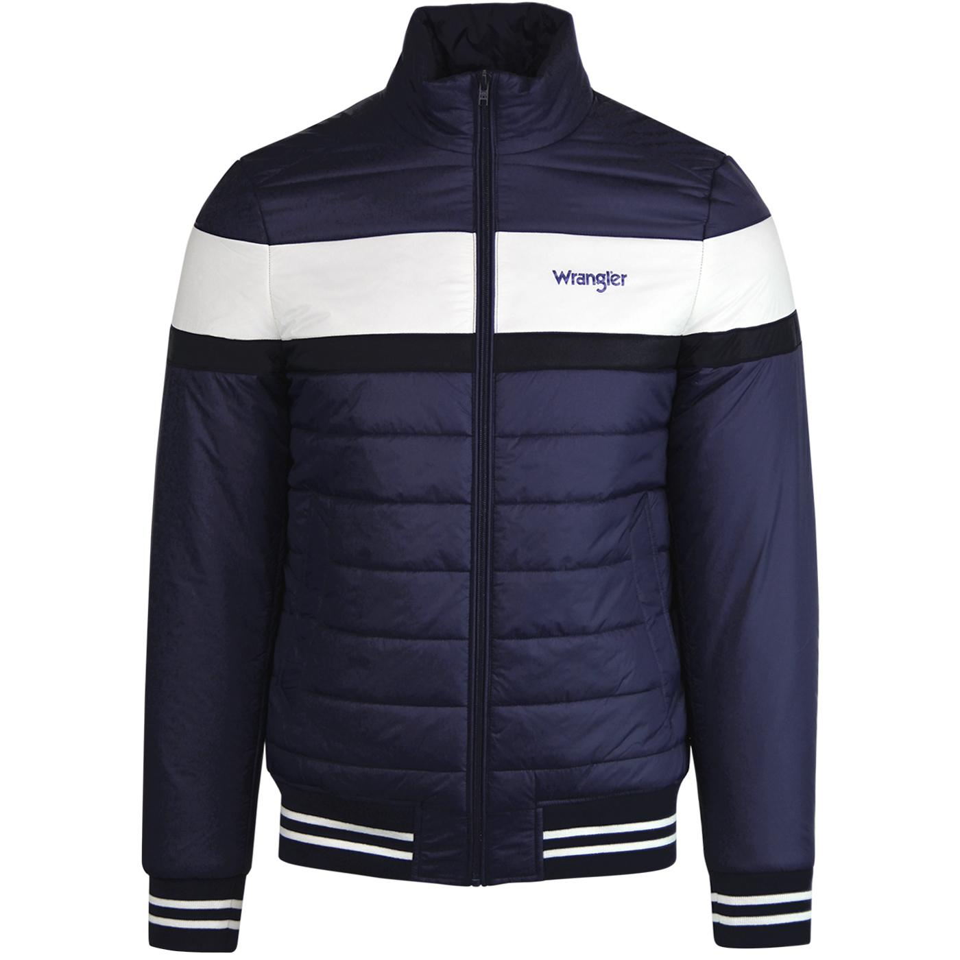 WRANGLER Retro 80s Colour Block Puffer Jacket (BD)