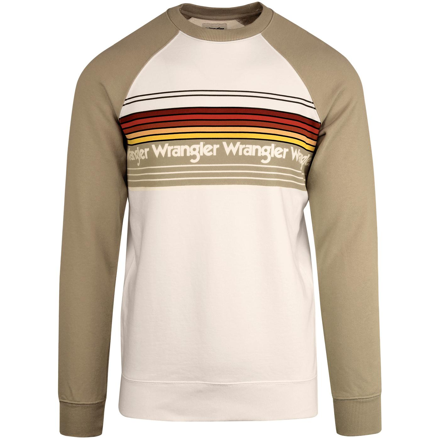 WRANGLER Retro 1970s Rainbow Stripe Sweatshirt
