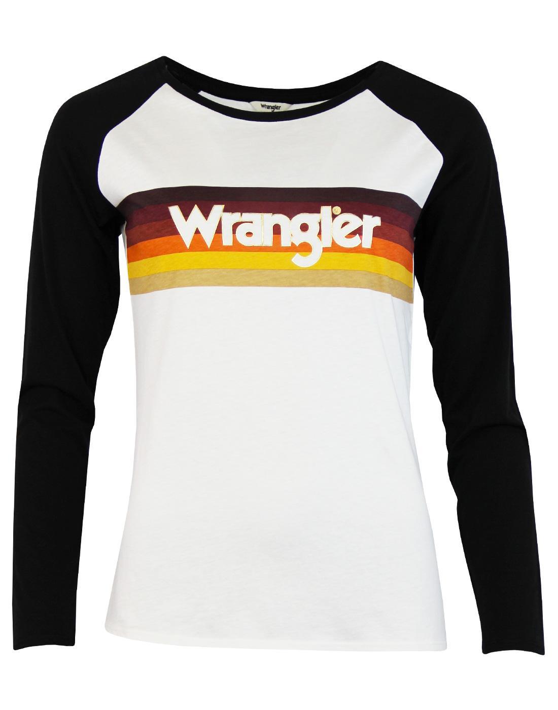 WRANGLER Women's Retro Raglan Rainbow Stripe Tee