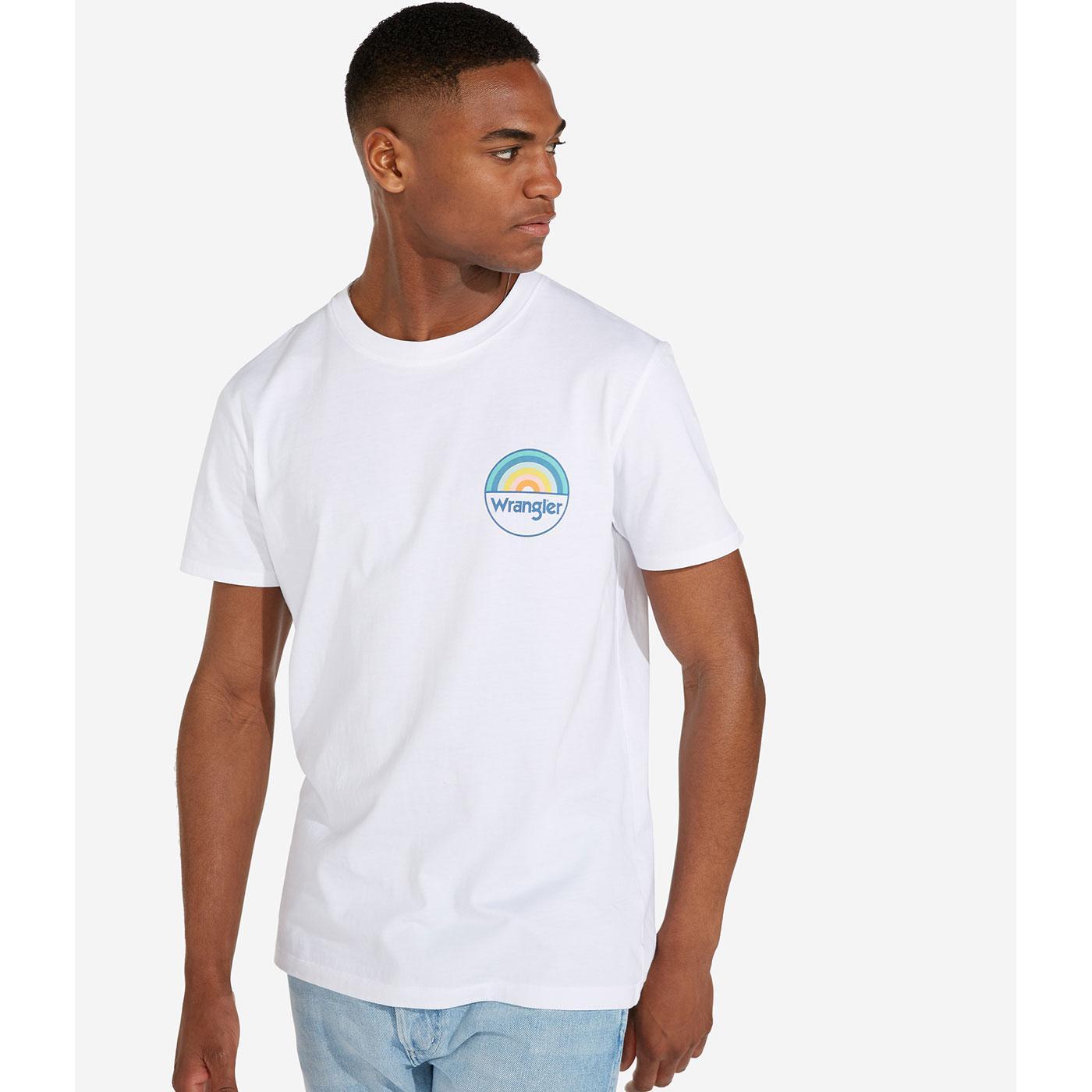 WRANGLER Men's Retro Rainbow Chest Logo T-Shirt