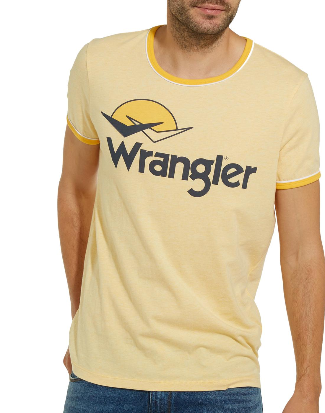 WRANGLER Men's Retro 70s Birds & Sunset Logo Tee Y