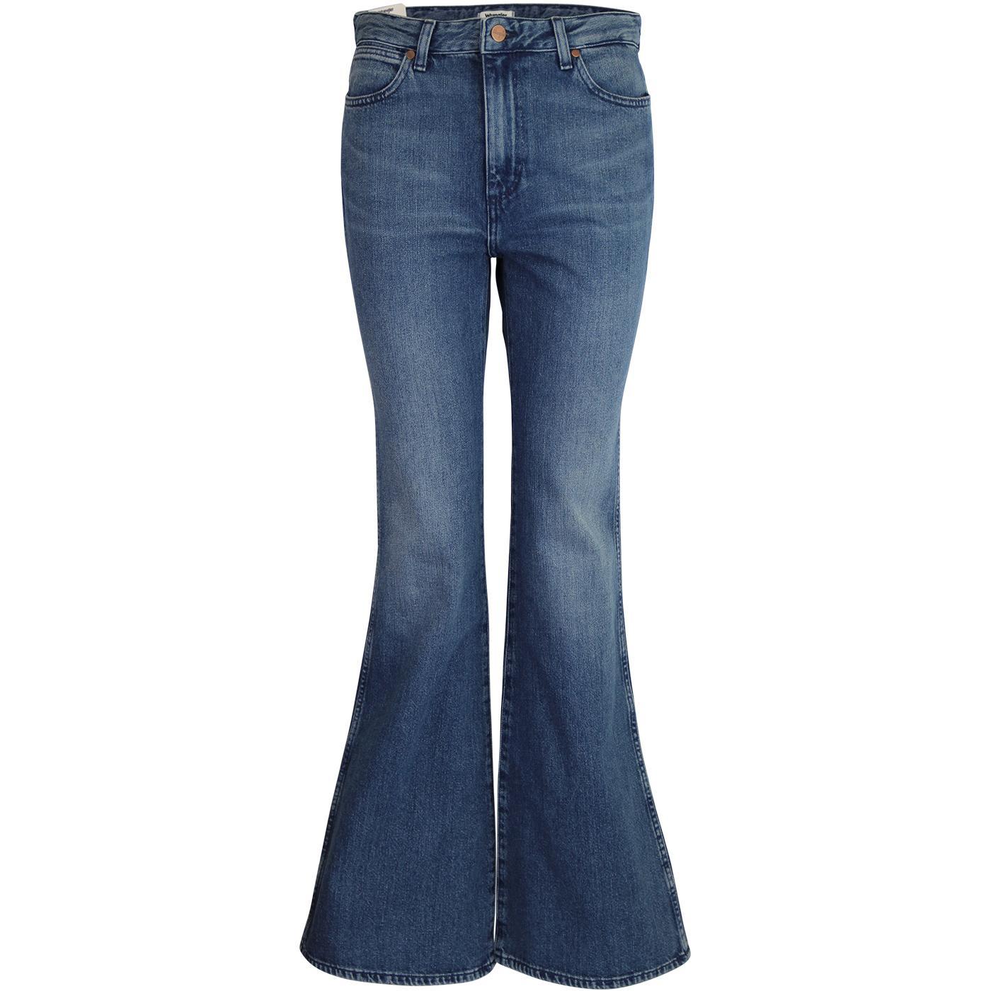 WRANGLER Women's 70s Retro Flare Jeans PINE FIELD