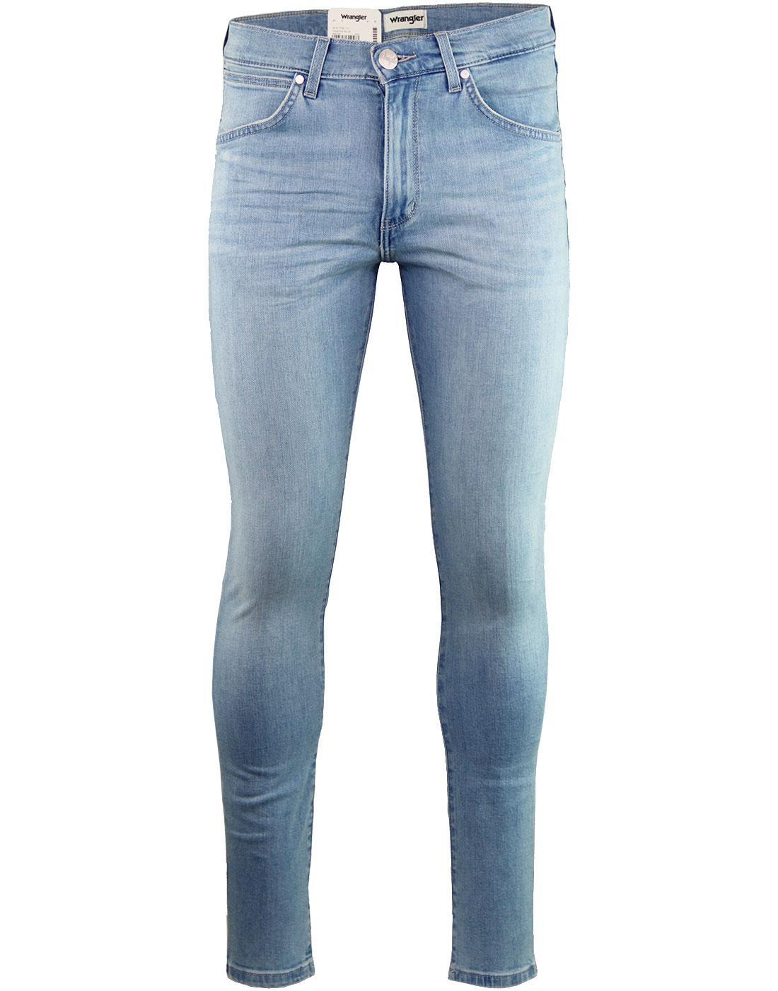 59013e9b WRANGLER 'Strangler' Super Skinny Jeans in Tainted Blue