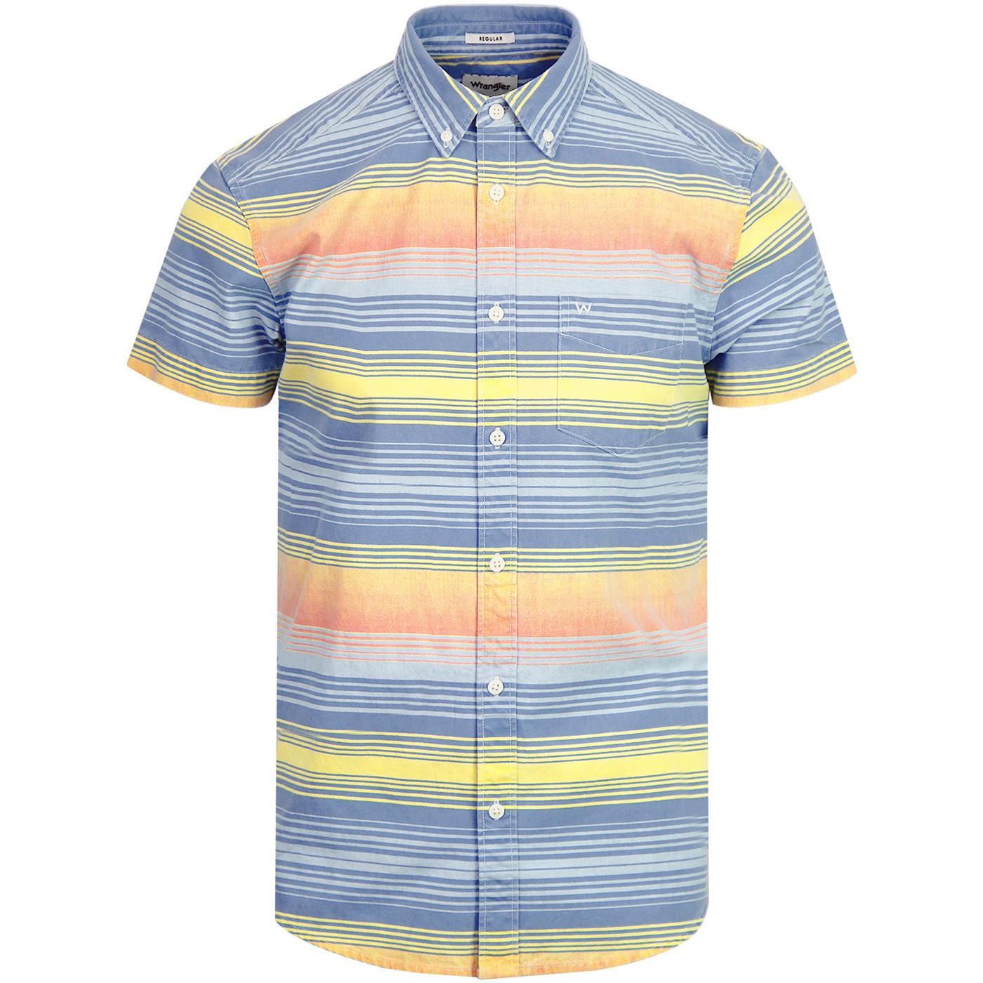 WRANGLER 1 Pkt Gradient Colour Block Stripe Shirt