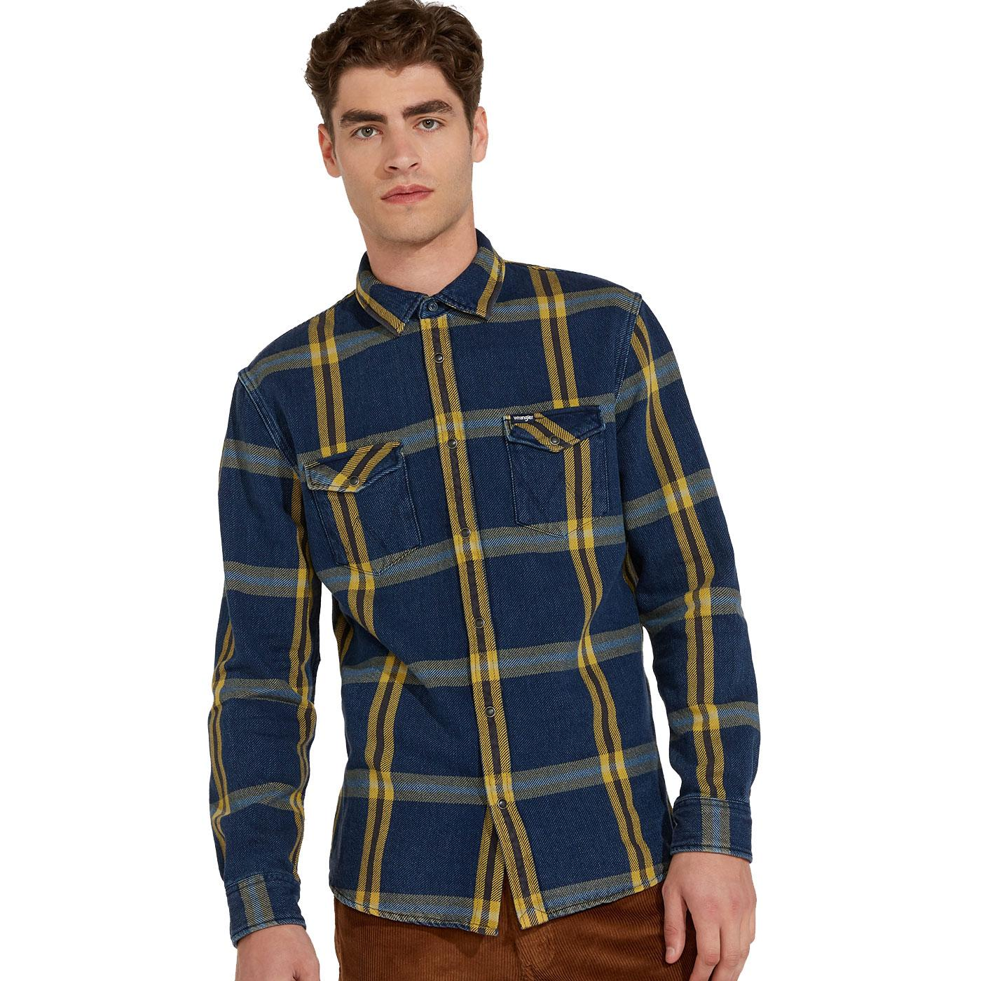 WRANGLER Men's Classic Retro Western Check Shirt