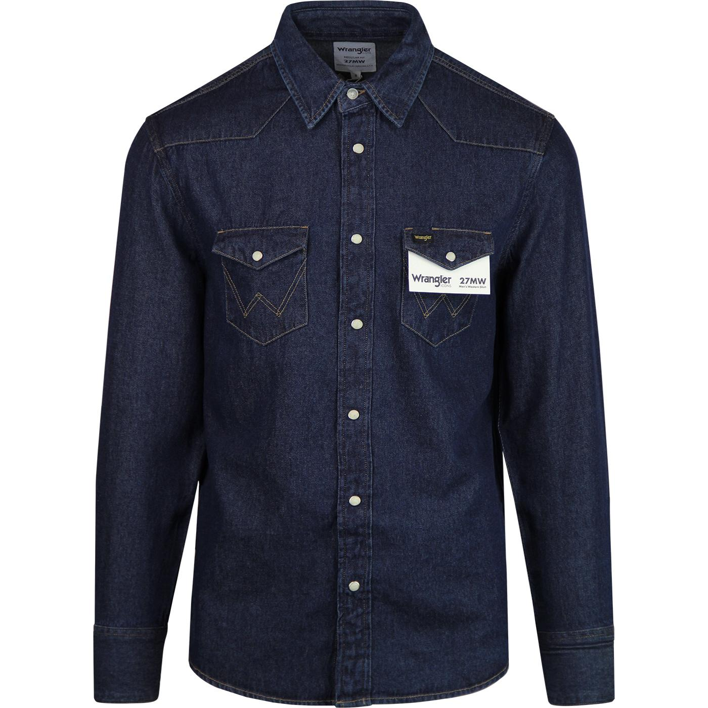 27MW WRANGLER Retro Mod Denim Men's Western Shirt